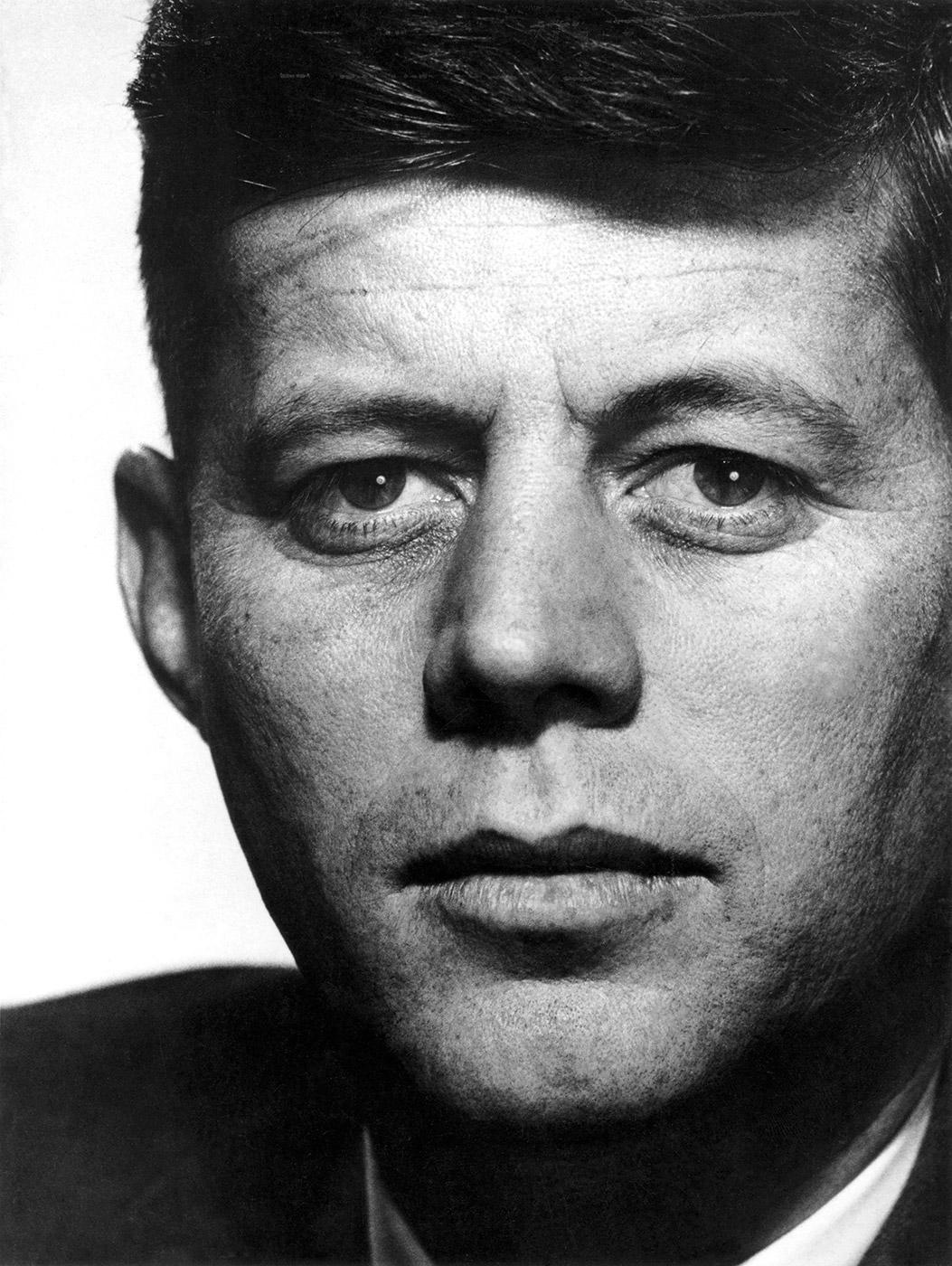 Senator John F. Kennedy of Massachusetts, 1957. © Philippe Halsman (Courtesy Magnum Photos).