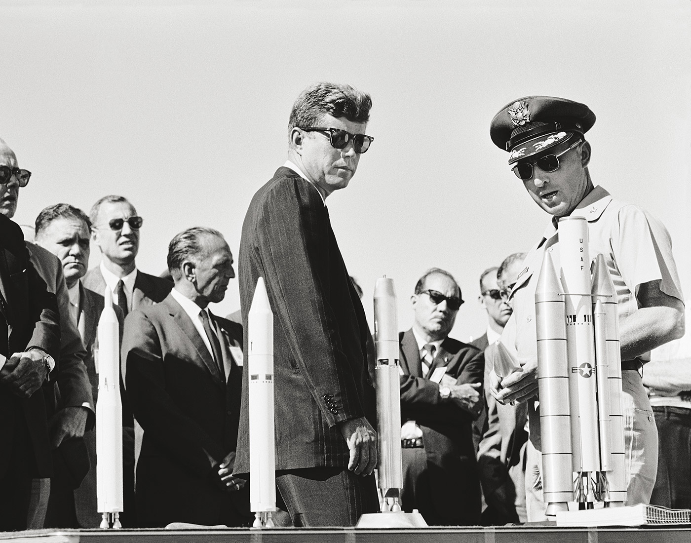 President Kennedy tours NASA facilities in Huntsville, Alabama, September 11, 1961. © Bob Gomel (Courtesy The LIFE Images Collection/Getty Images)