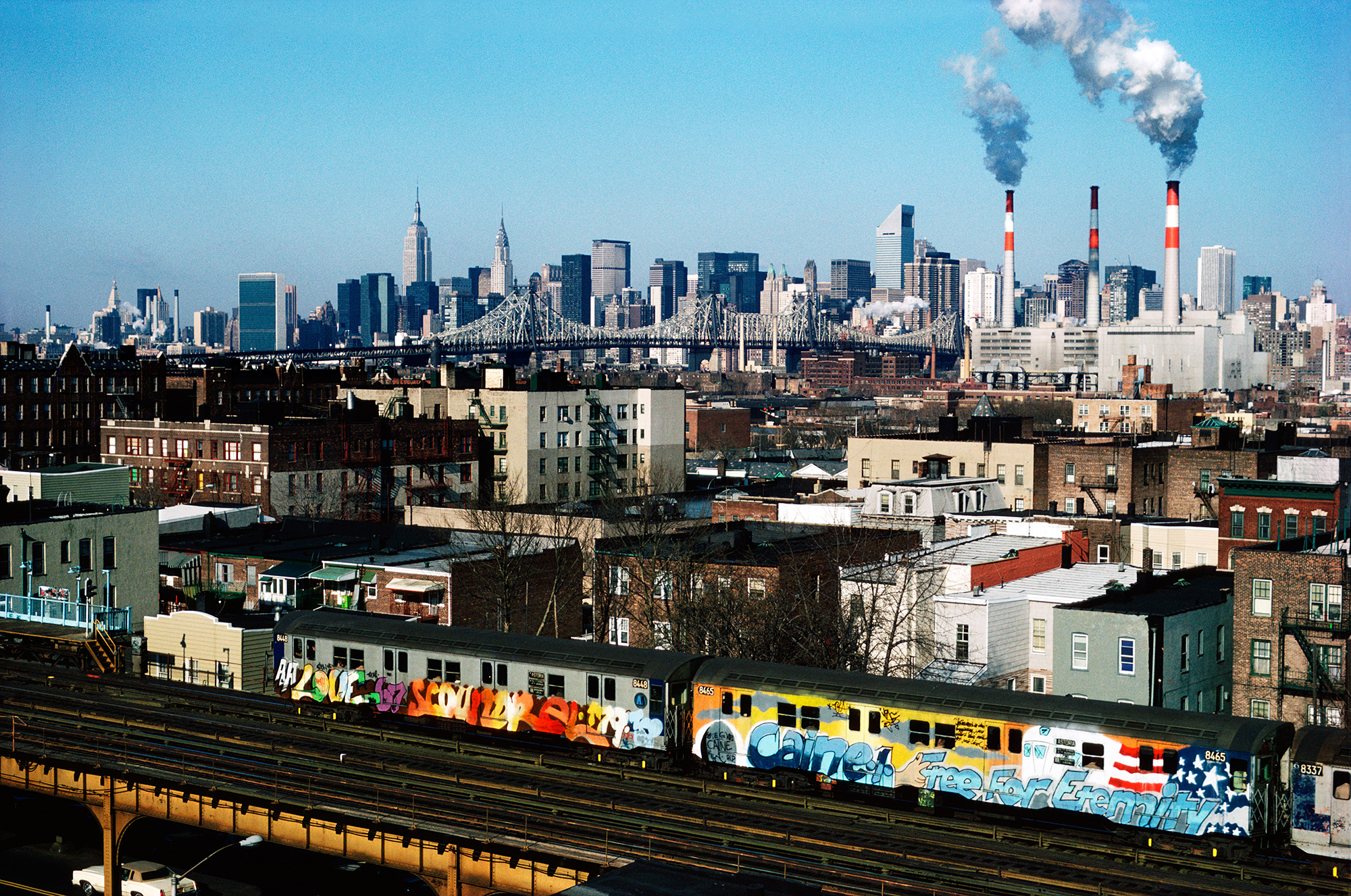 Memorial Train for Craine1  Free For Eternity  by MIDG, Astoria, Queens, NY, 1982