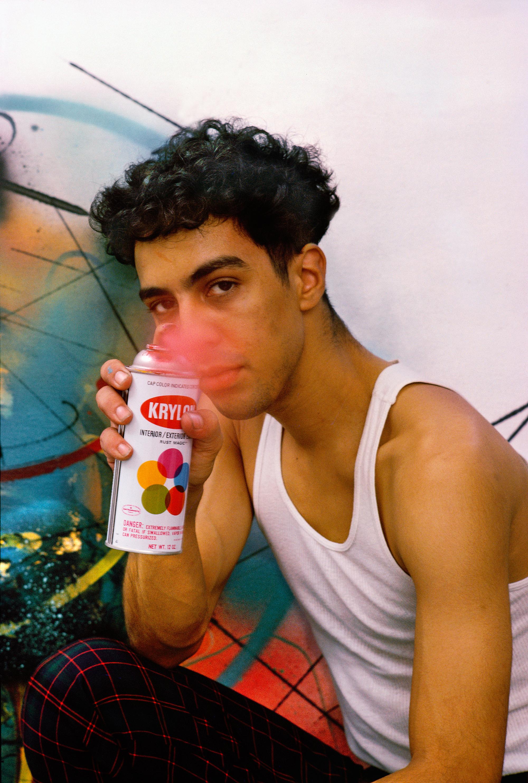 Futura 2000 with Spray Can, New York, NY, 1983