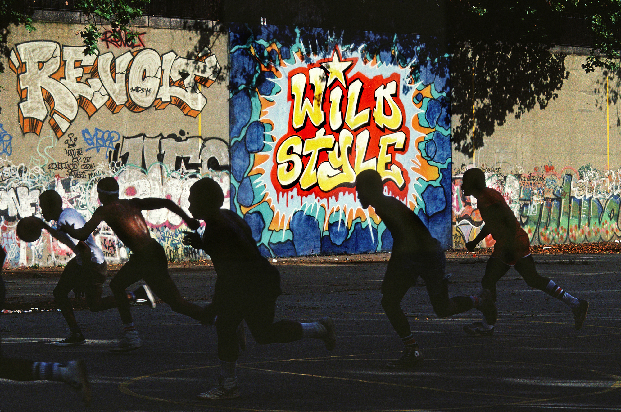 Freshly Painted Wild Style Wall in Riverside Park, Manhattan, NYC, 1983
