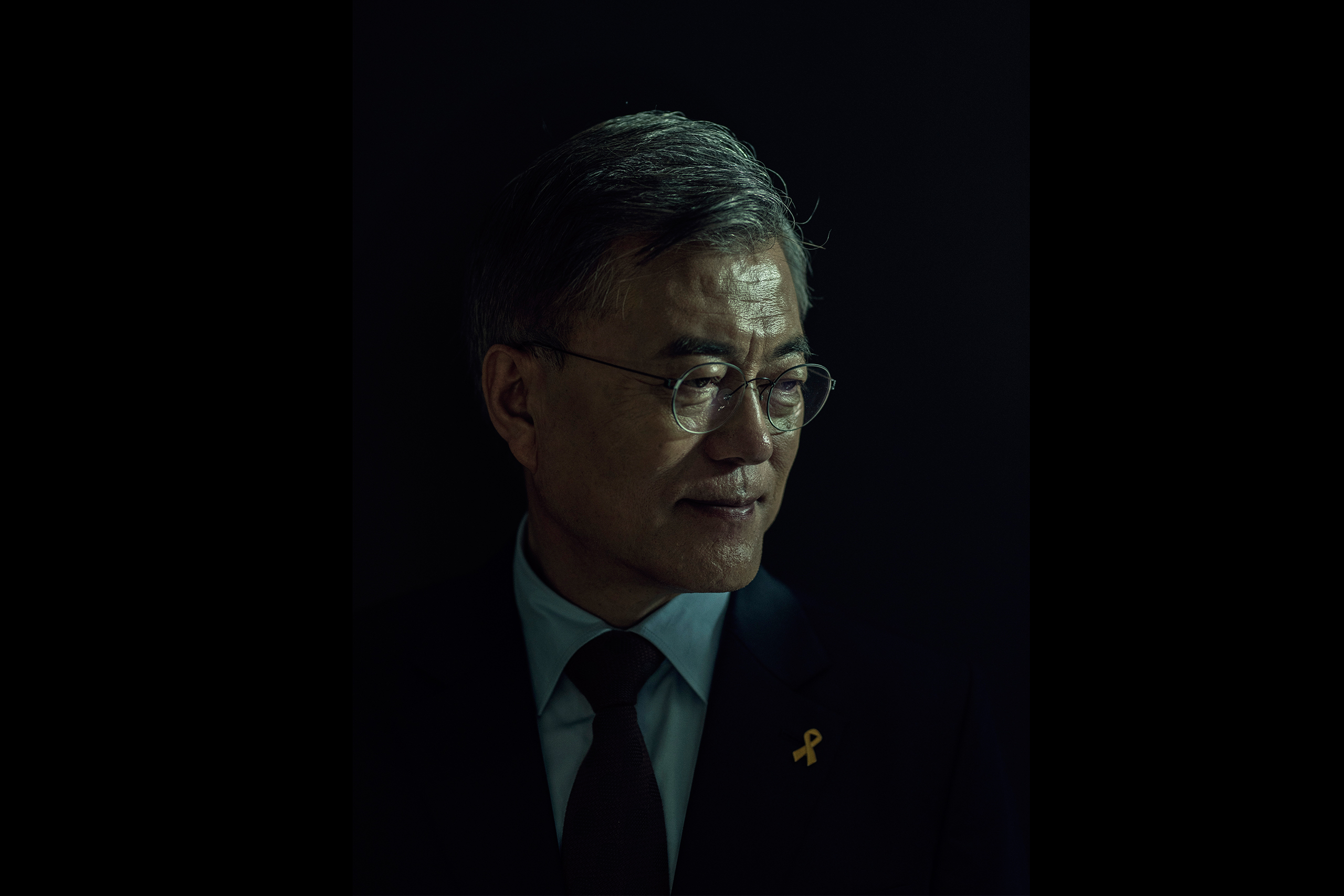 Moon Jae-in stands for a portrait in Seoul, South Korea, on April 15, 2017.