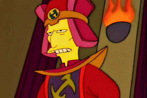 """<b>Patrick Stewart:</b> Stewart first appeared on <i>The Simpsons</i> in 1995 in """"Homer the Great."""" His character, Number One, is the Springfield chapter leader of the Stonecutters, an ancient secret society. Stewart also appeared as himself in """"The Fabulous Faker Boy"""" in 2013."""