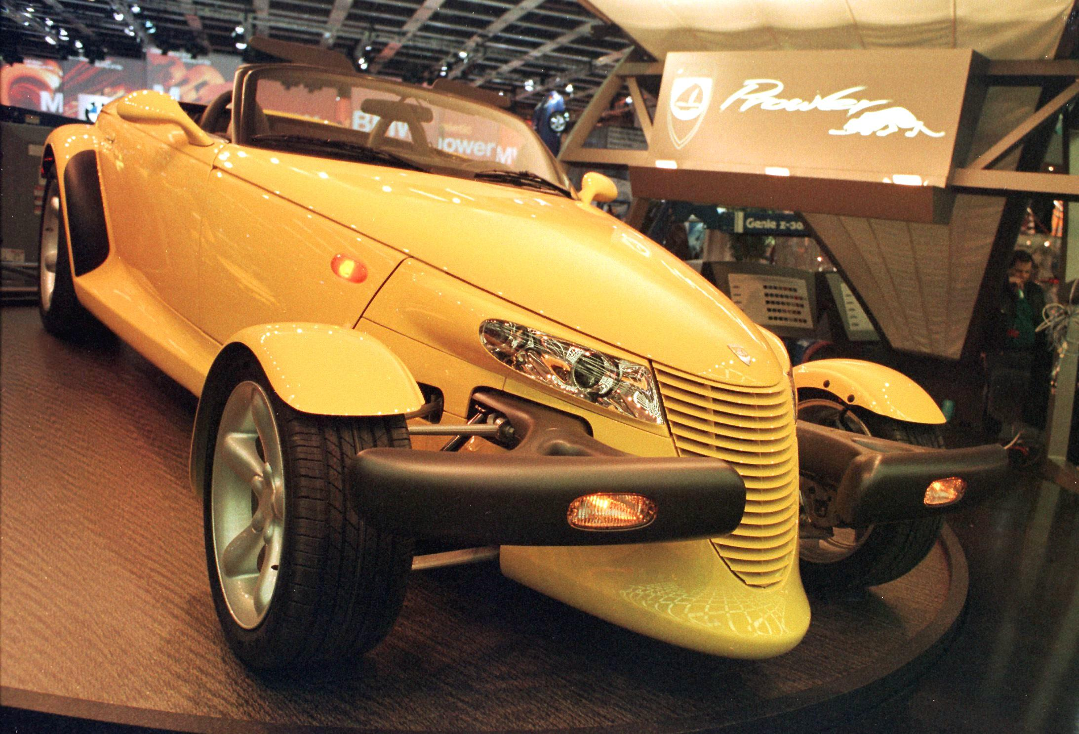 The Plymouth Prowler is on display 07 January at t