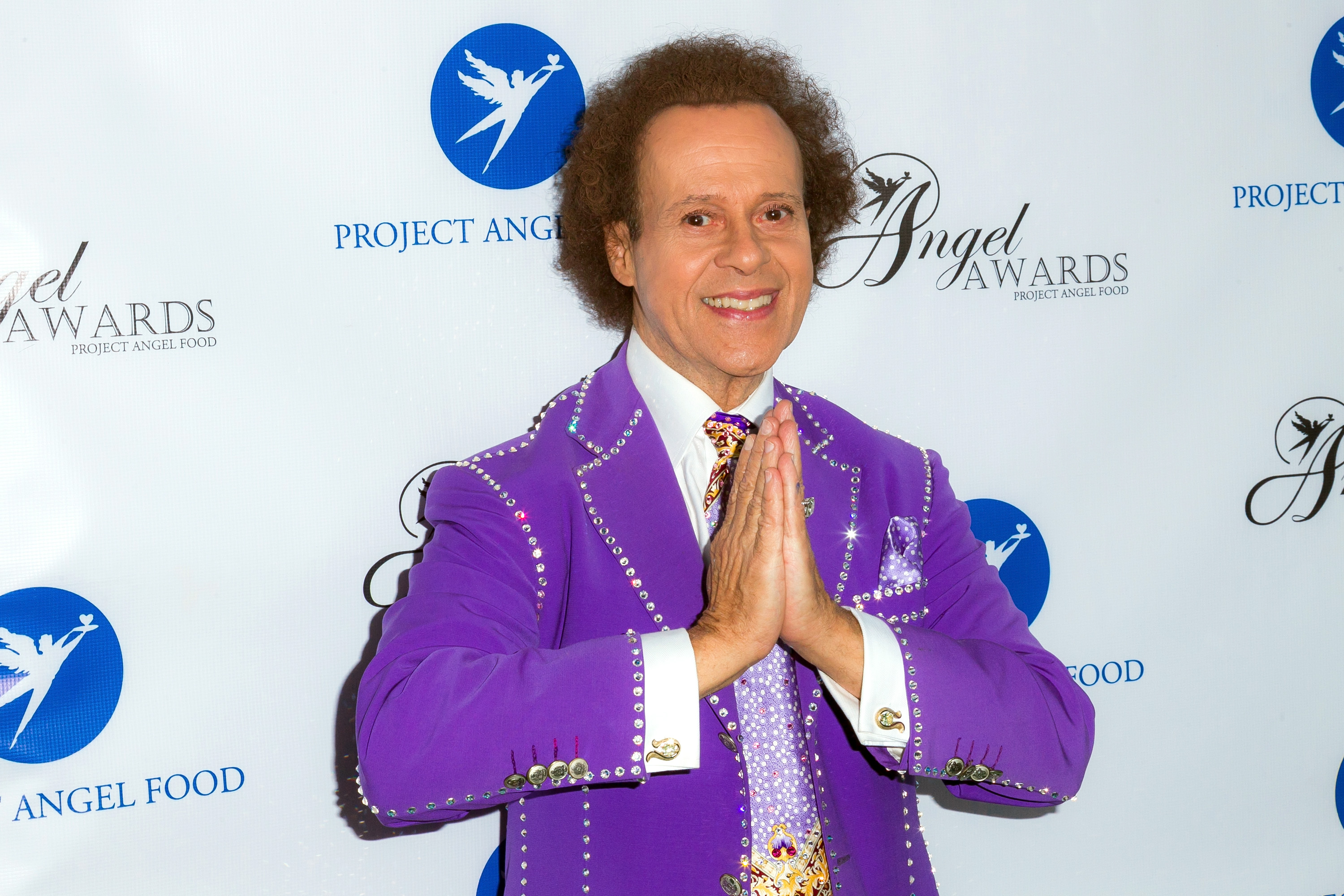 TV personality Richard Simmons arrives at Project Angel Food's Annual Angel Awards 2013 honoring Jane Lynch at Project Angel Food on August 10, 2013 in Los Angeles, Calif.
