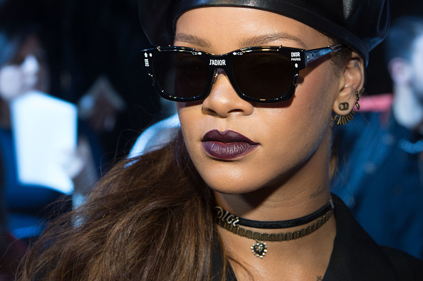 Rihanna attends the Christian Dior show of Paris Fashion Week on March 3, 2017 in Paris, France.