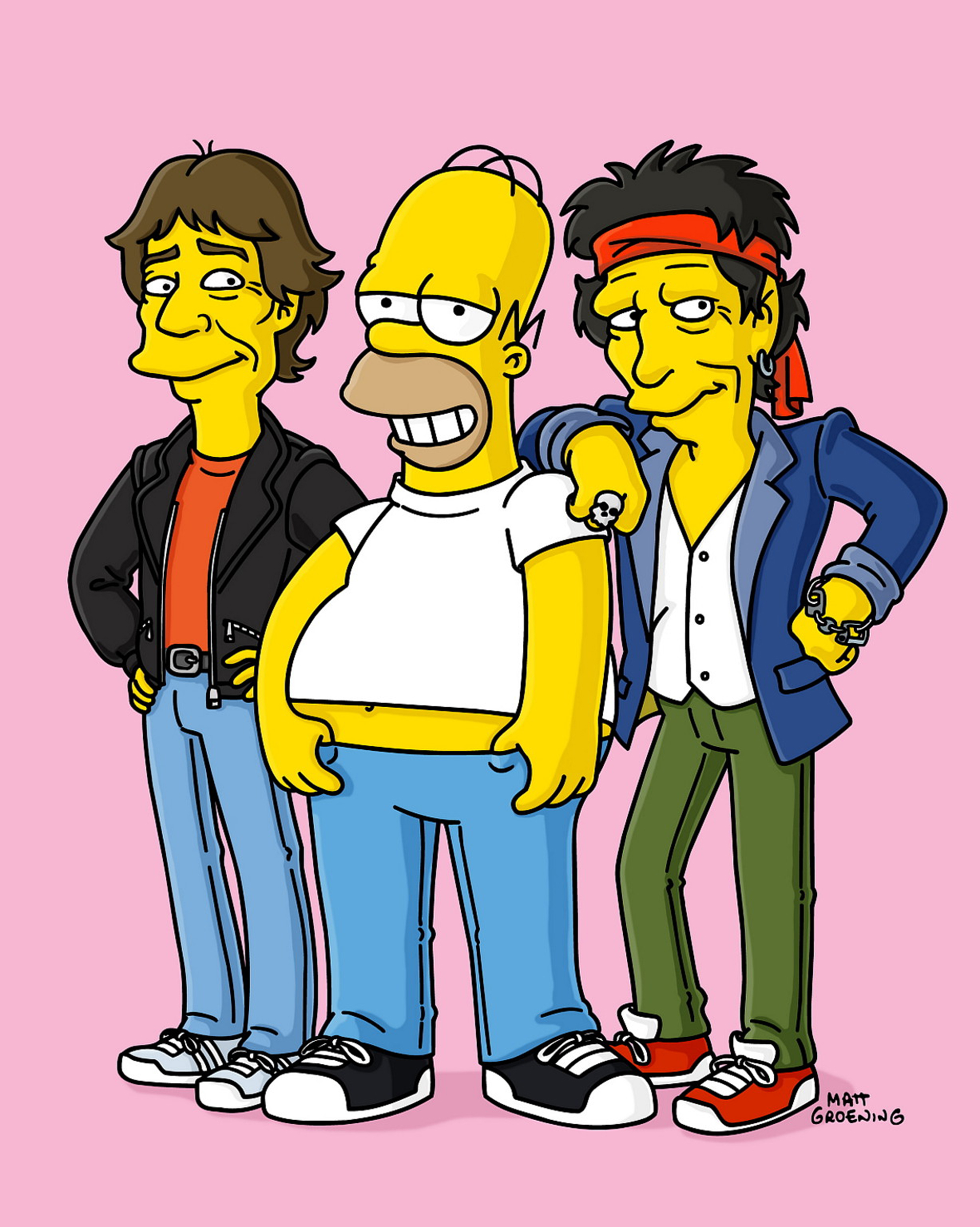 """<b>Mick Jagger/Keith Richards:</b> The Rolling Stones rockers make cameos as themselves in """"How I Spent My Strummer Vacation"""" in 2002, when Homer Simpson is sent to a rock and roll fantasy camp so he can attempt to live out his childhood dreams."""