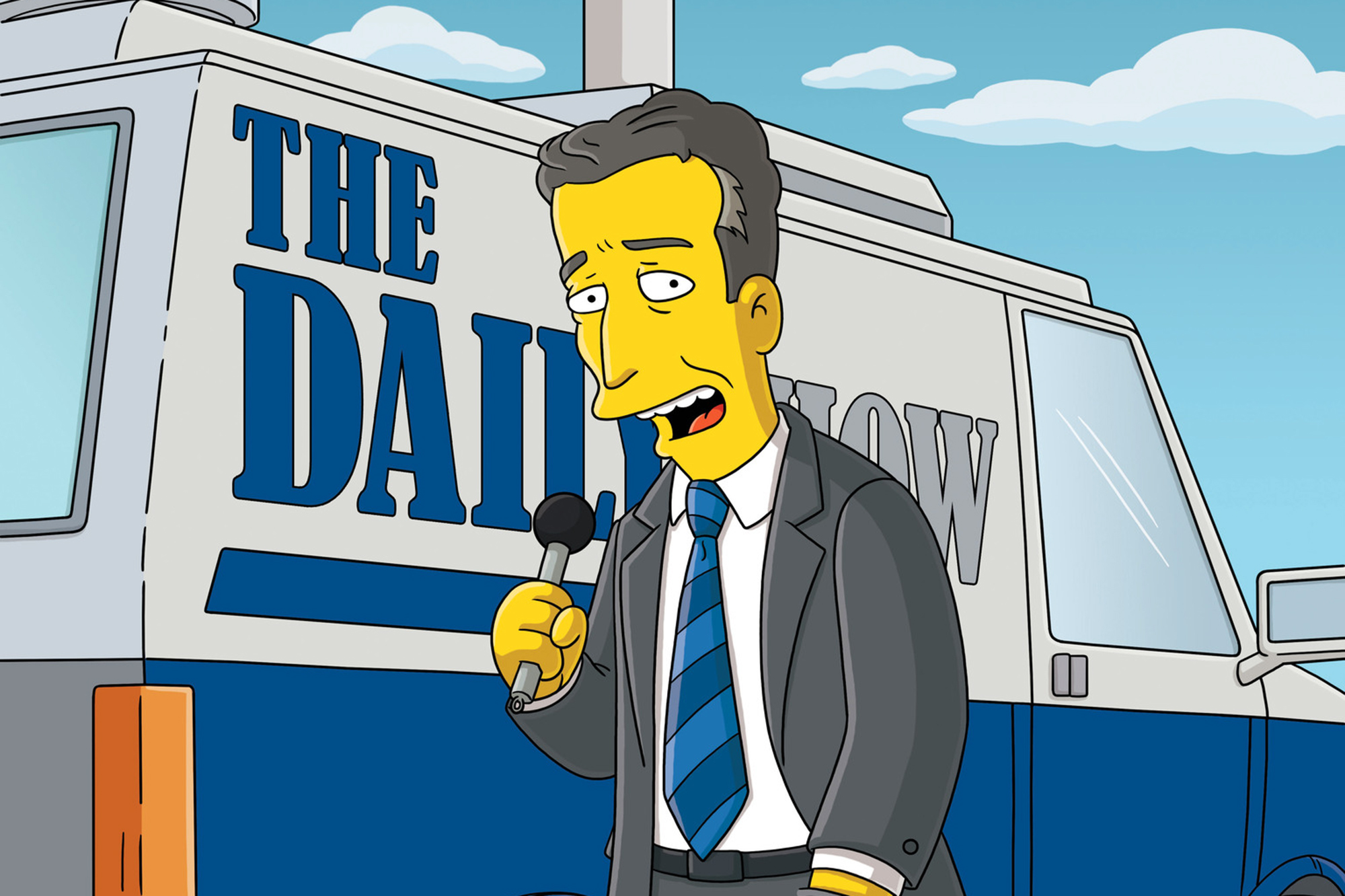 """<b>Jon Stewart:</b> The former <i>Daily Show</i> host appeared as himself in """"E. Pluribus Wiggum"""" in 2008, when Springfield holds the first presidential primary and its the residents rally behind their own candidate, Ralph Wiggum."""