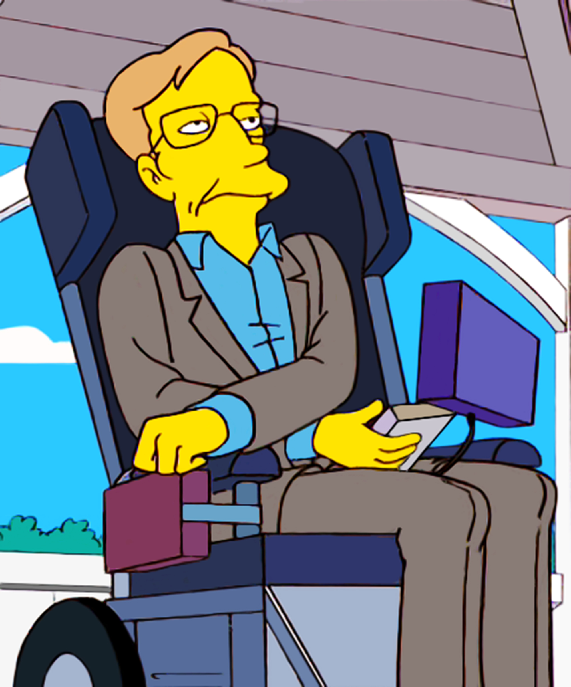 """<b>Stephen Hawking:</b> The theoretical physicist first paid Springfield a visit in the 1999 episode """"They Saved Lisa's Brain,"""" in which, playing himself, he is summarily unimpressed by the improvements to the town made by Lisa and her MENSA compatriots. He went onto make three more appearances as himself: """"Don't Fear the Roofer"""" in 2005, """"Stop or My Dog Will Shoot!"""" in 2007, and """"Elementary School Musical"""" in 2010."""