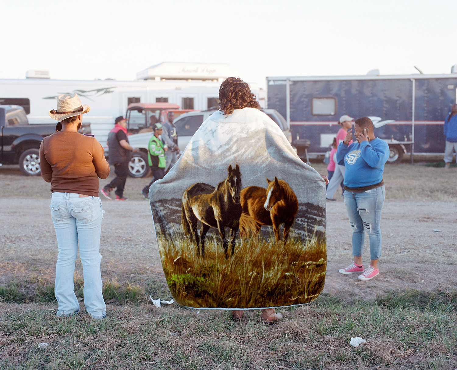Women gather at a trail ride in Southern Louisiana. 2014