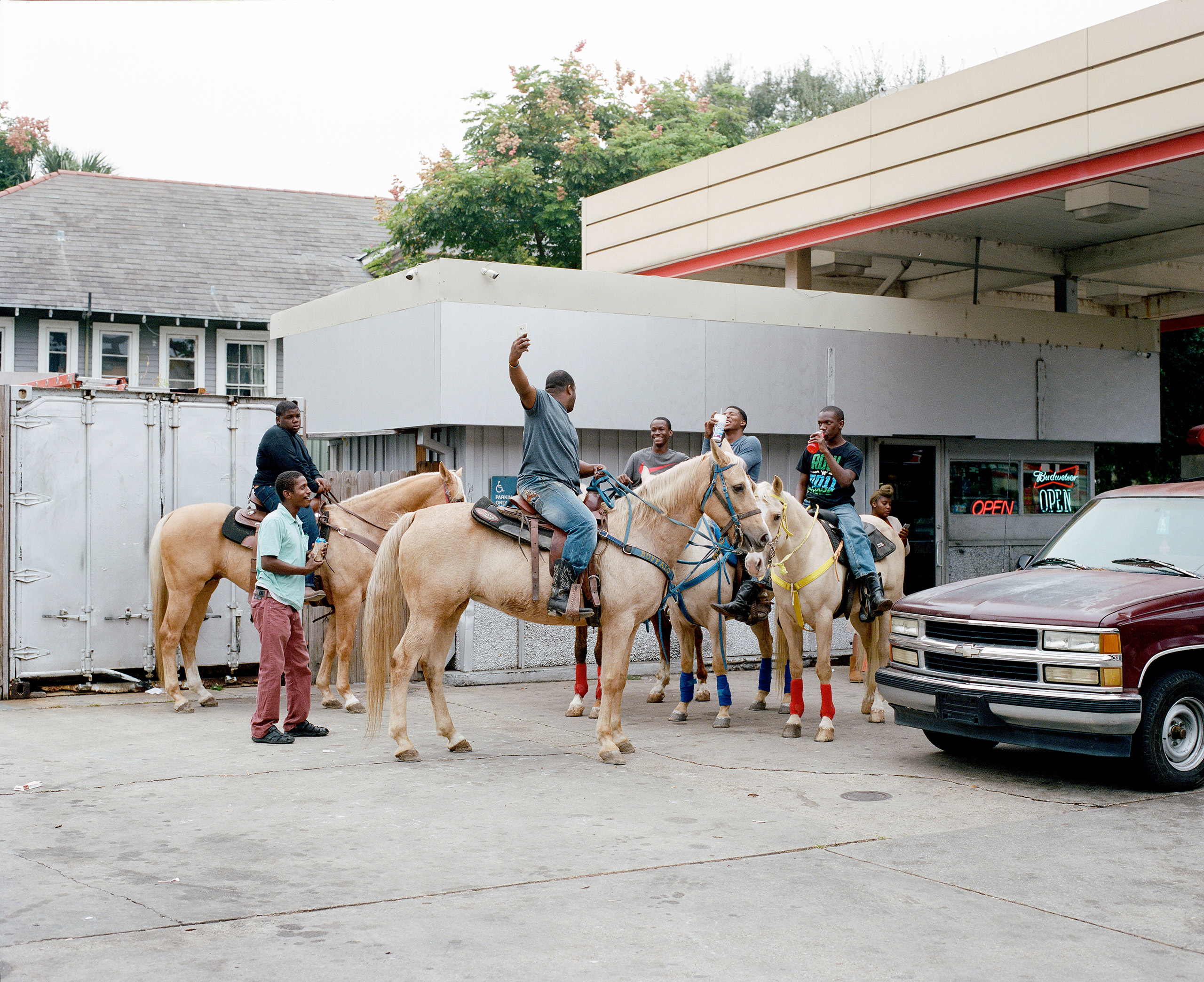 Riders gather at a gas station on Esplanade Ave. New Orleans, La. 2016