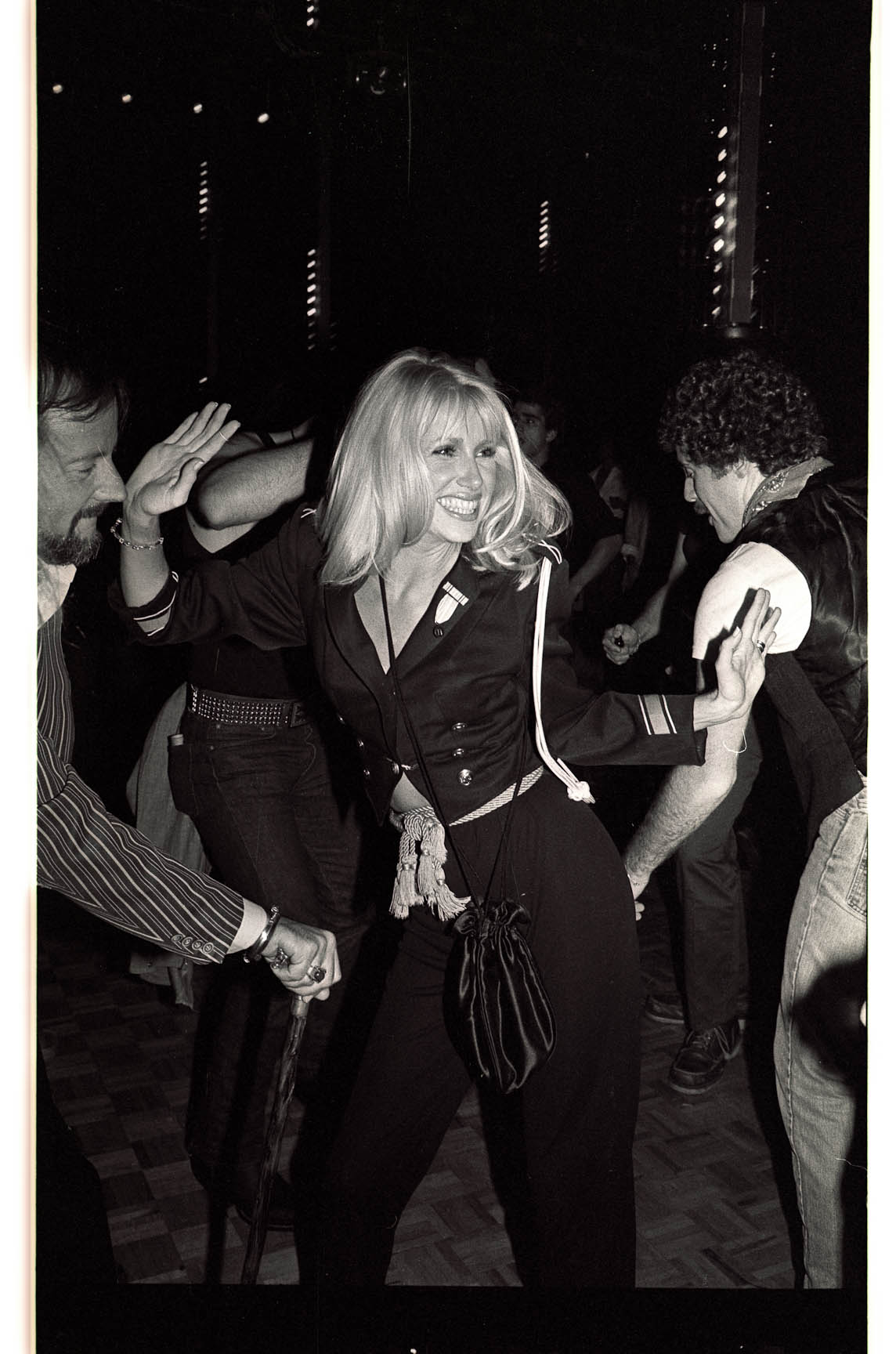 Suzanne Somers dancing at Studio 54, photographed by Gene Spatz.