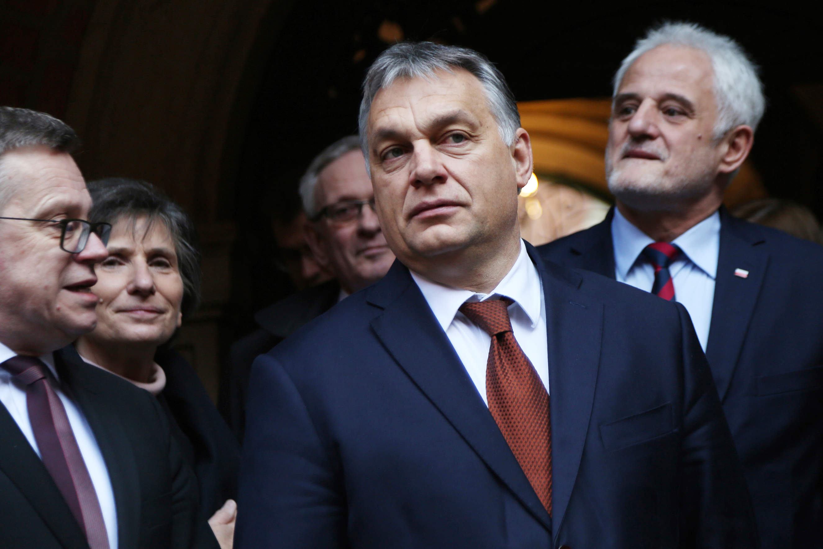Prime Minister of Hungary, Viktor Orban, arrives at the scientific conference entitled  Europa Centralis - History of the Region Throughout the Ages  which was organized by the Jagiellonian University in Krakow, Poland to mark the one hundredth anniversary of the birth of the Polish professor of history Waclaw Felczak on Dec. 9, 2016.