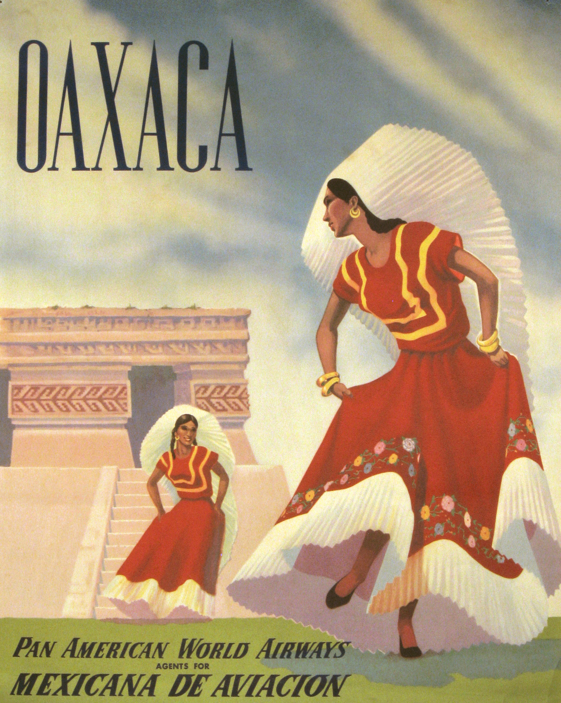 Pan Am Oaxaca circa 1950.