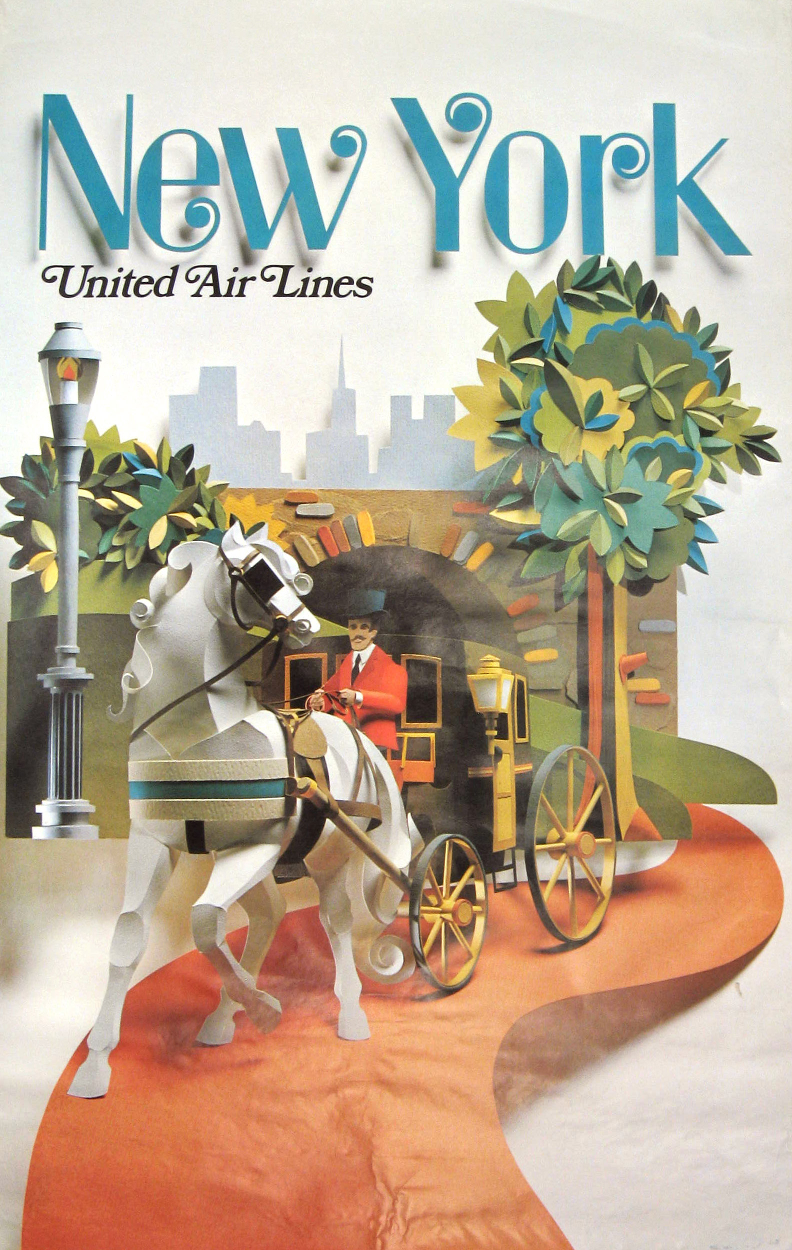 United Air Lines New York 1971.