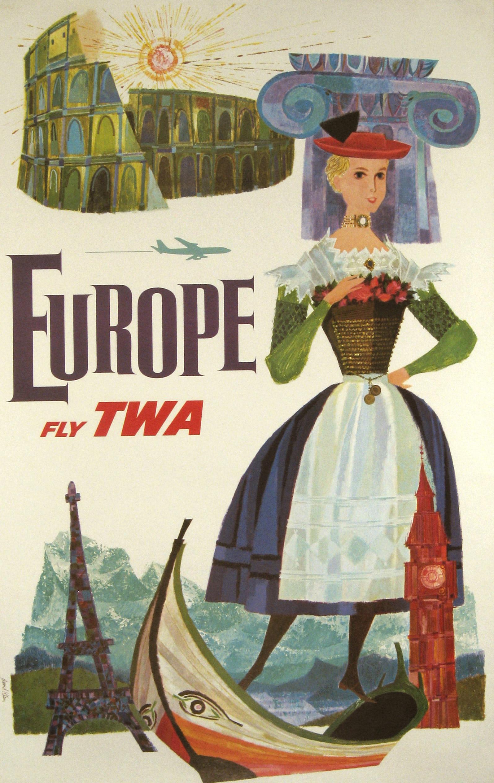 TWA Europe circa 1960.