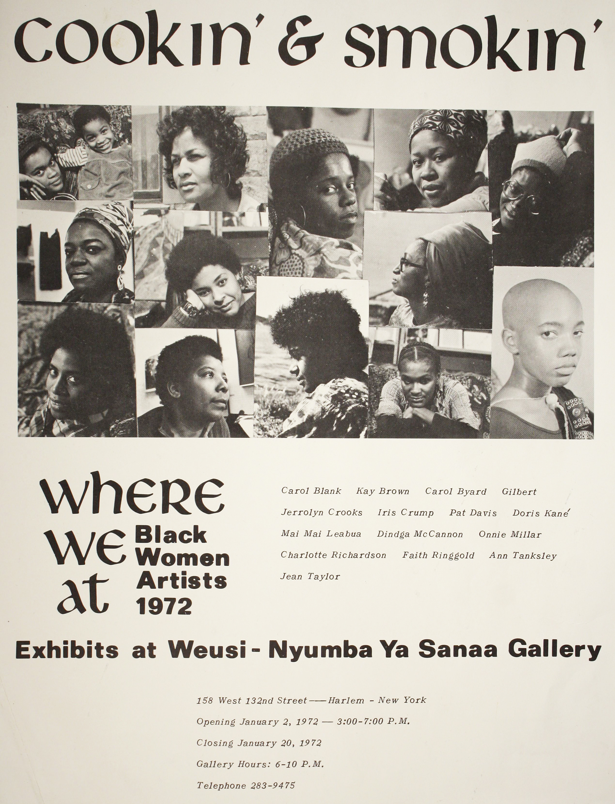 Poster of Where We At Collective, Cookin' and Smokin', 1972.