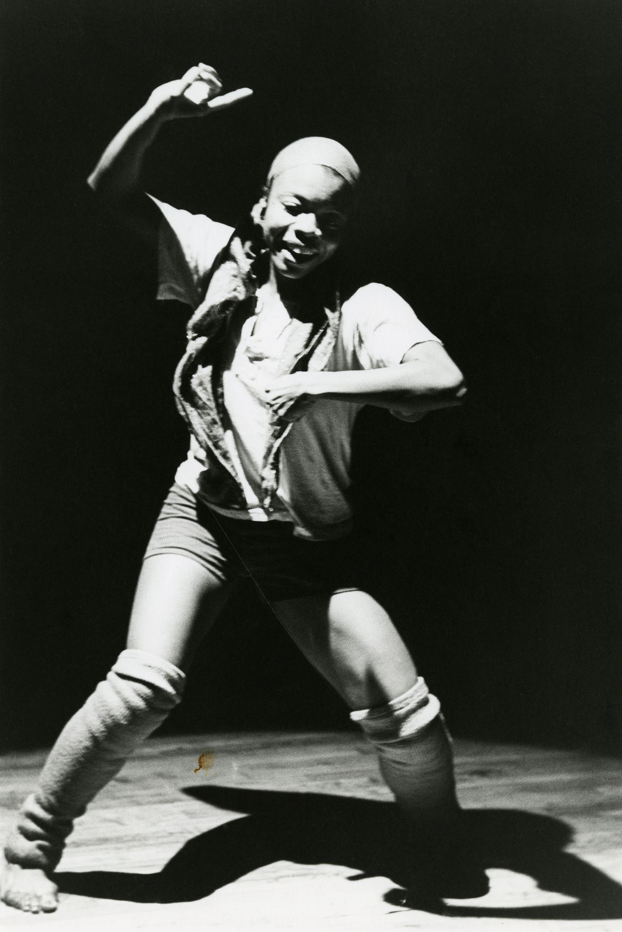 Lona Foote, Blondell Cummings performing  Blind Dates  at Just Above Midtown Gallery, 1982.