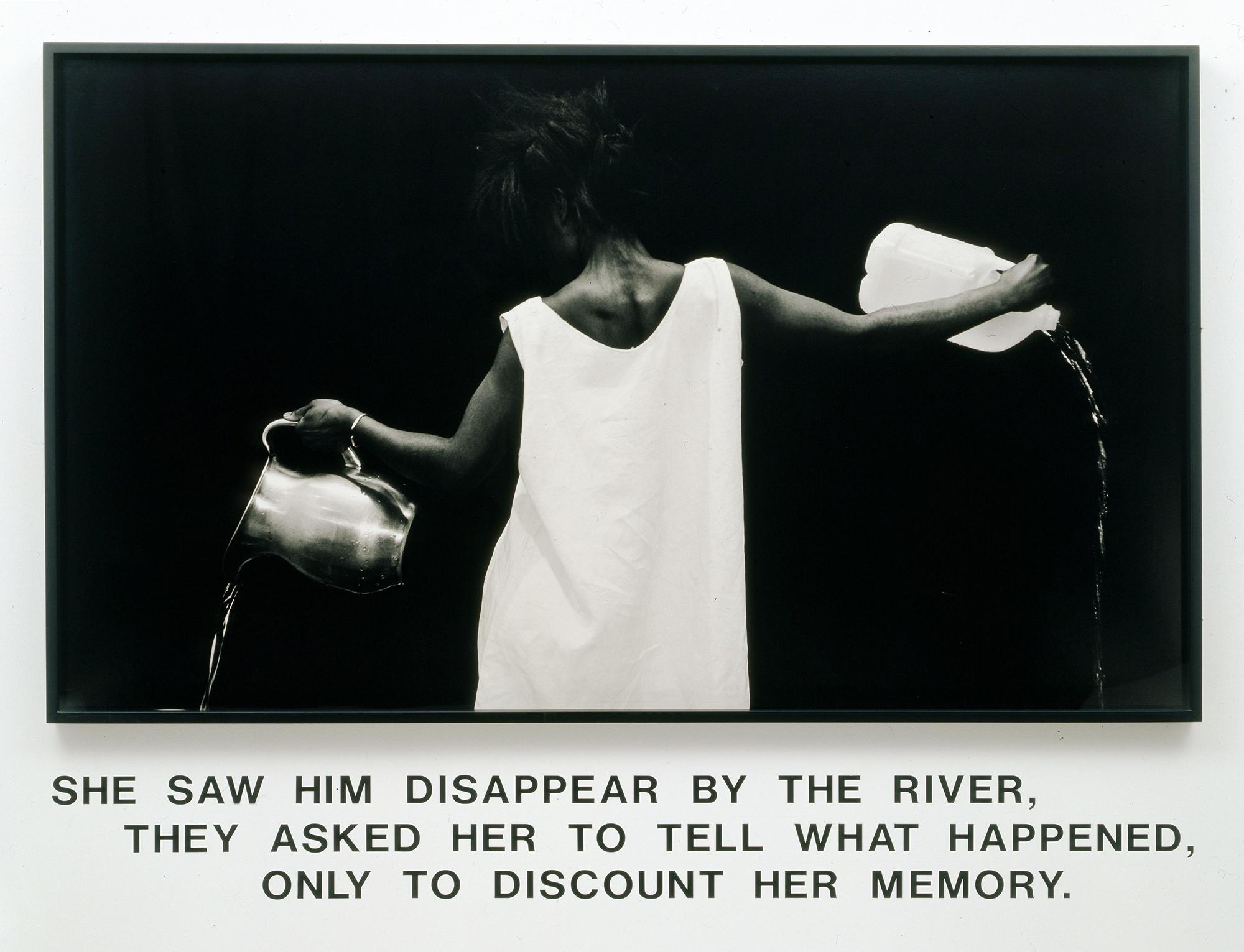 Lorna Simpson, Waterbearer, 1986.