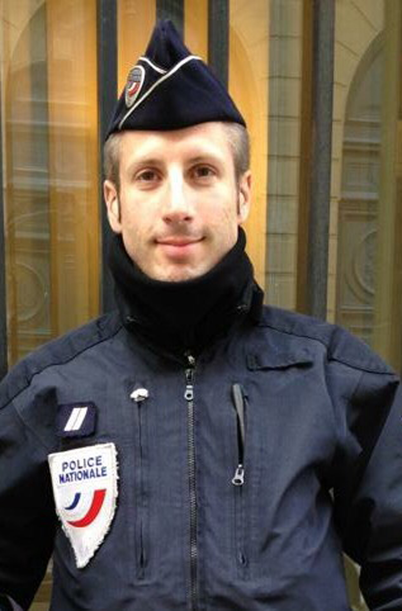 This undated image provided on April 21, 2017, by FLAG, an association of LGBT police officers, shows French police officer Xavier Jugele.