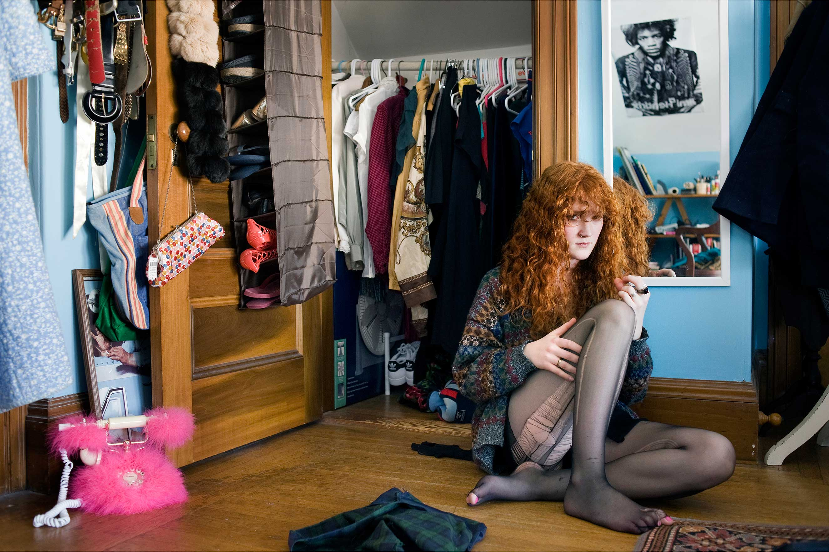 'Anna F, Winchester, MA 2009' in the series, A Girl and Her Room.