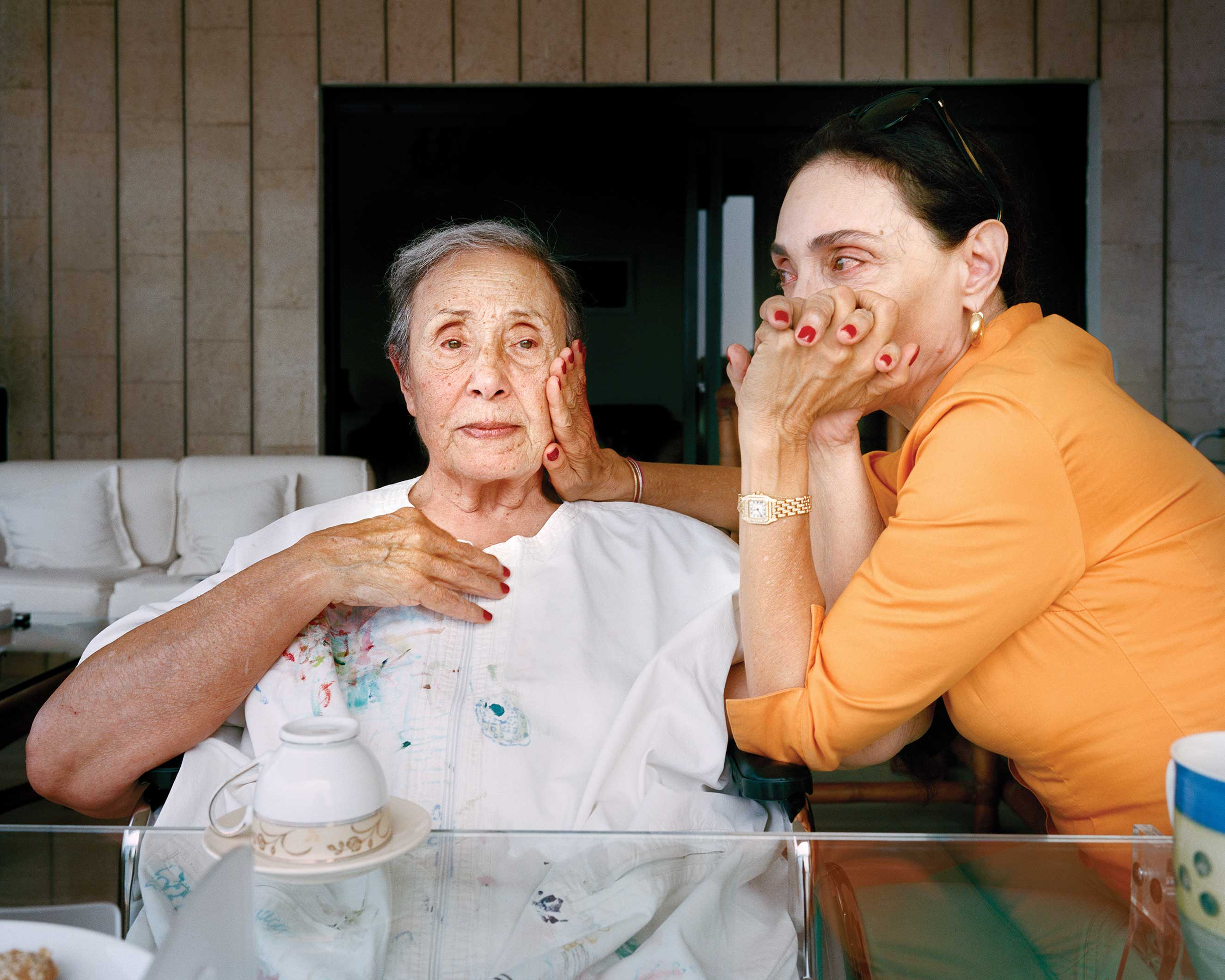 'Brigitte and Huguette, Ghazir Lebanon, 2013' in the series, Unspoken Conversations - Mothers and Daughters.
