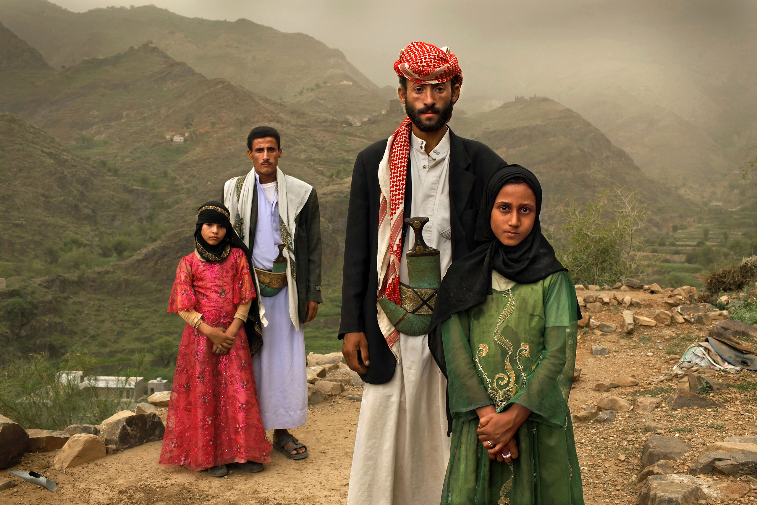 Whenever I saw him, I hid. I hated to see him,  Tahini (in pink) recalls of the early days of her marriage to Mated, when she was 6 and he was 25. The young wife posed for this portrait with former classmate Ghana, also a child bride, outside their mountain home in Hajji, Yemen, in 2010.