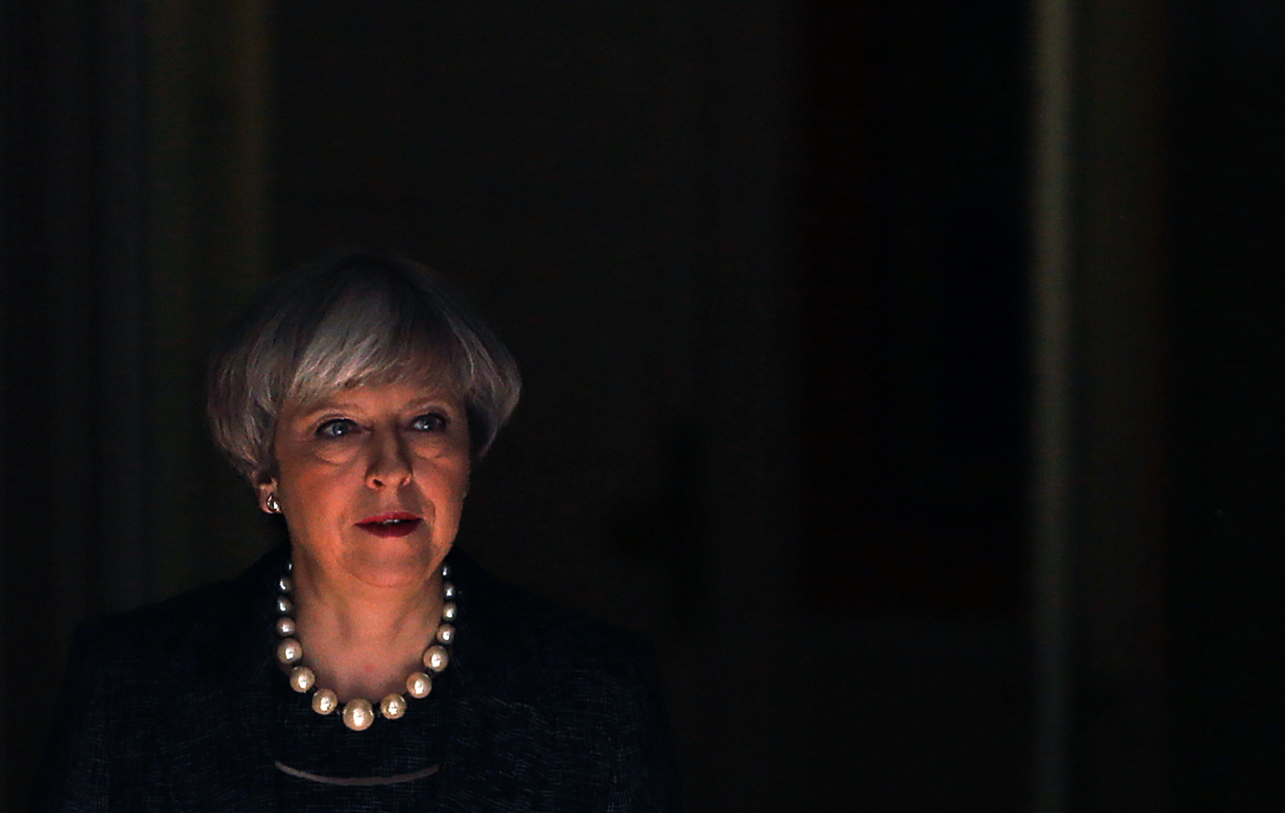 Britain's Prime Minister Theresa May leaves 10 Downing Street in central London on May 25, 2017.                       Britain's Prime Minister Theresa May said Thursday she would raise the issue of leaks from a probe into the Manchester terror attack that have infuriated British authorities with their US counterparts.
