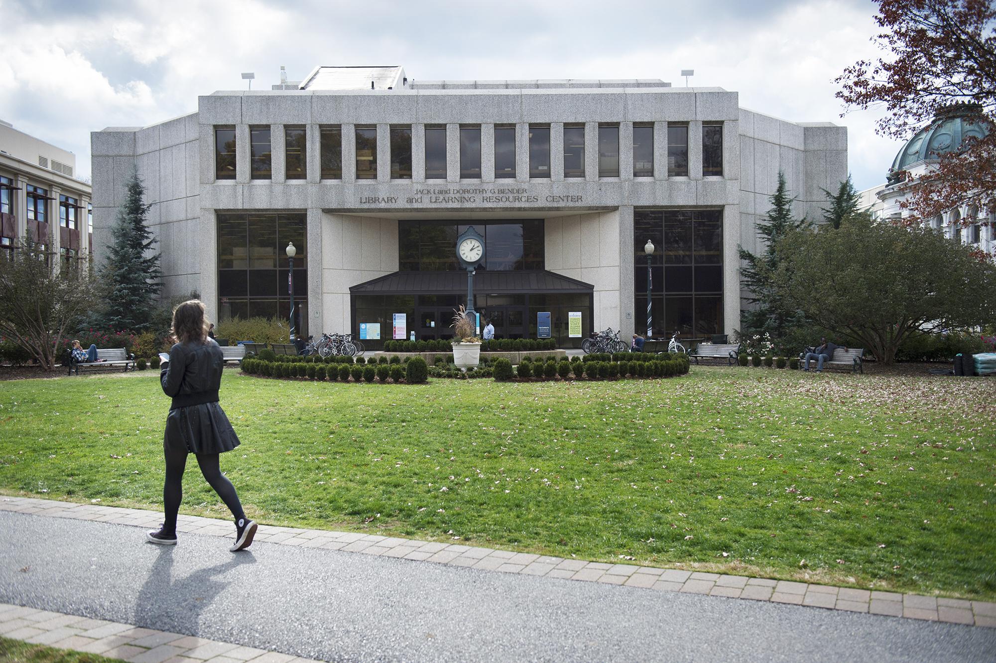 American University campus in Washington, D.C., on Nov. 9, 2016.