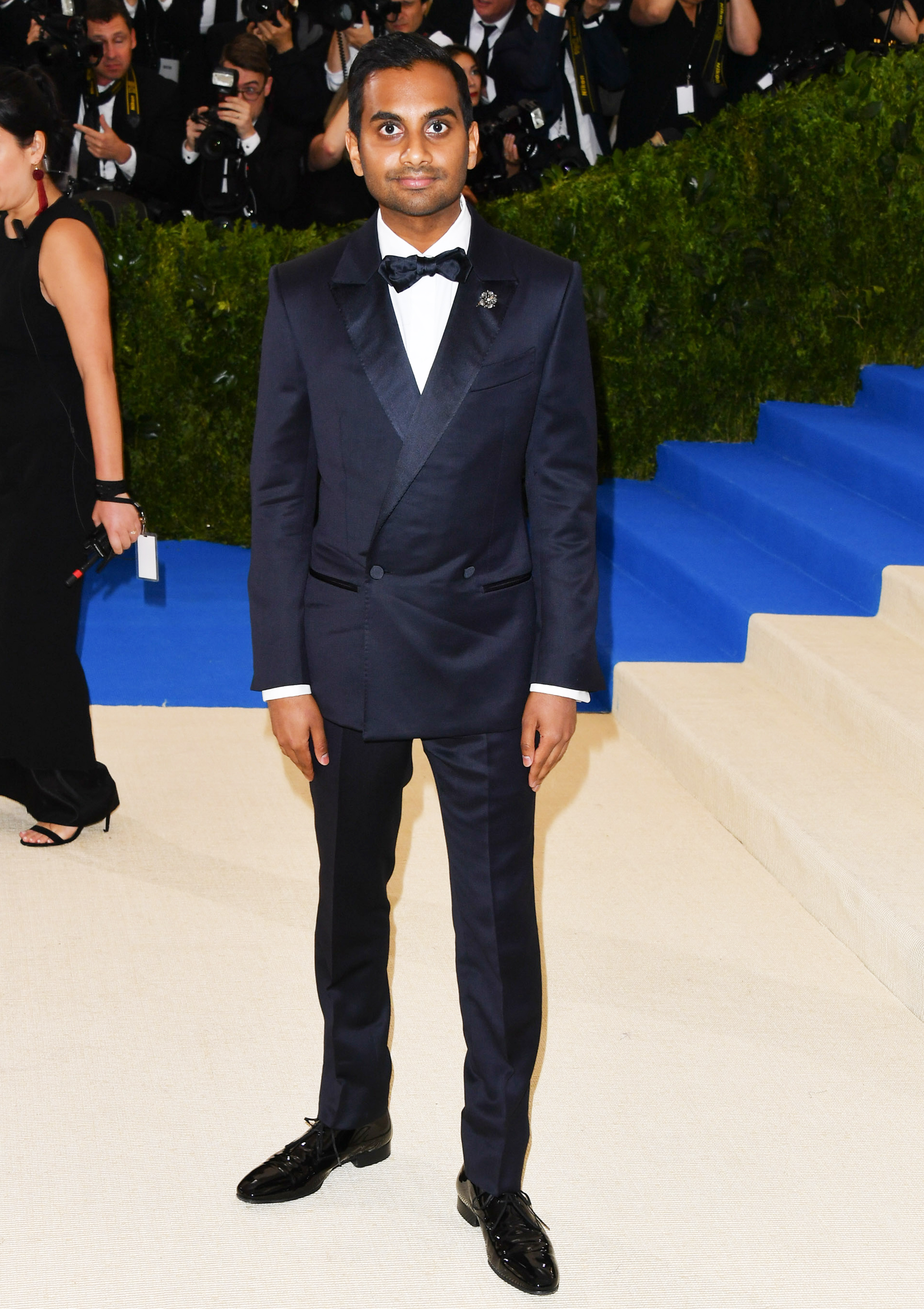 Aziz Ansari attends The Metropolitan Museum of Art's Costume Institute benefit gala celebrating the opening of the Rei Kawakubo/Comme des Garçons: Art of the In-Between exhibition in New York City, on May 1, 2017.