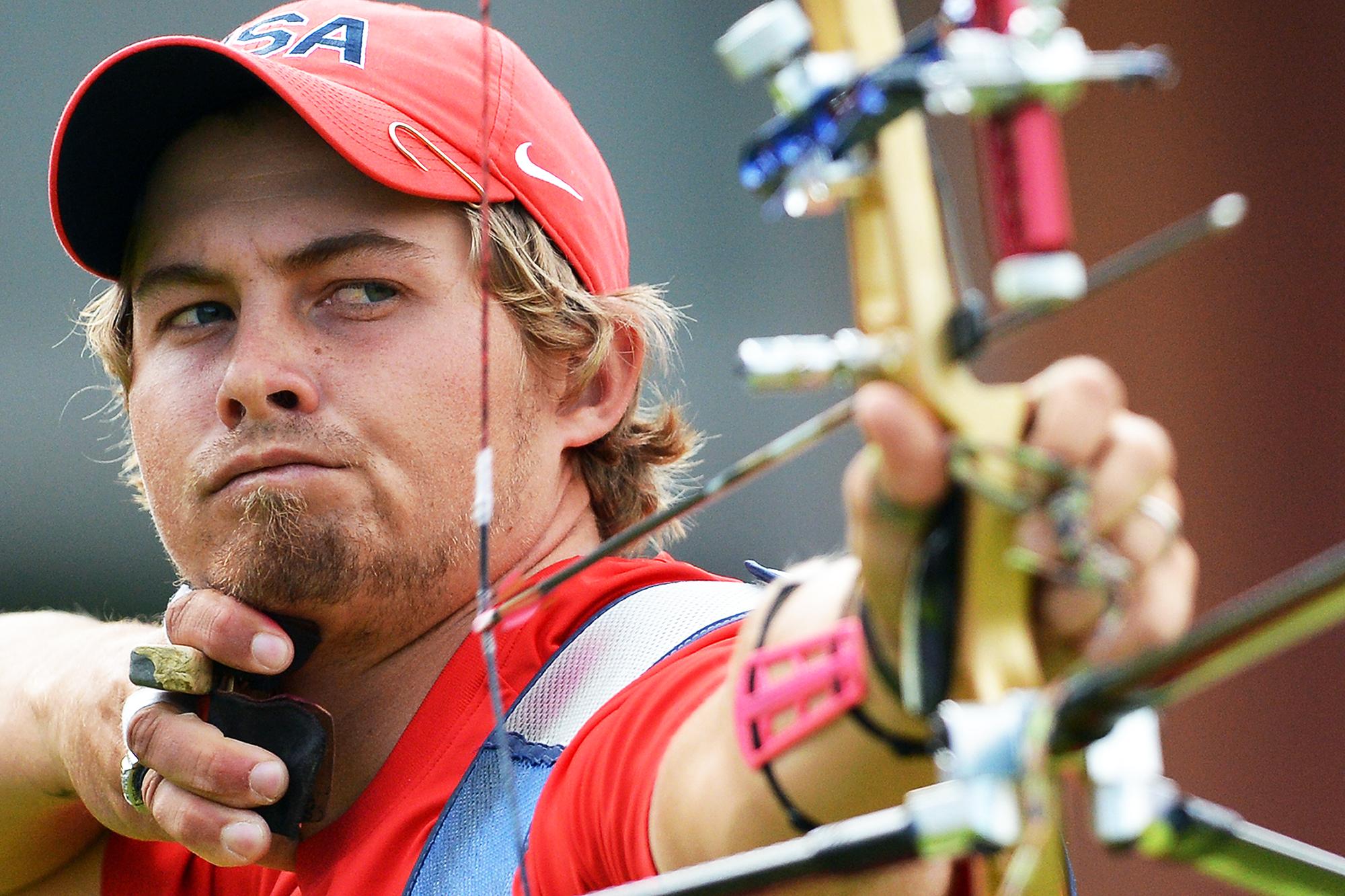 US archer Brady Ellison competes with Ph