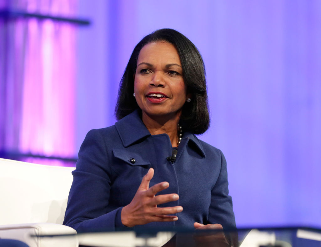 Condoleezza Rice speaks at the Watermark Conference for Women at San Jose Convention Center on February 1, 2017 in San Jose, California.