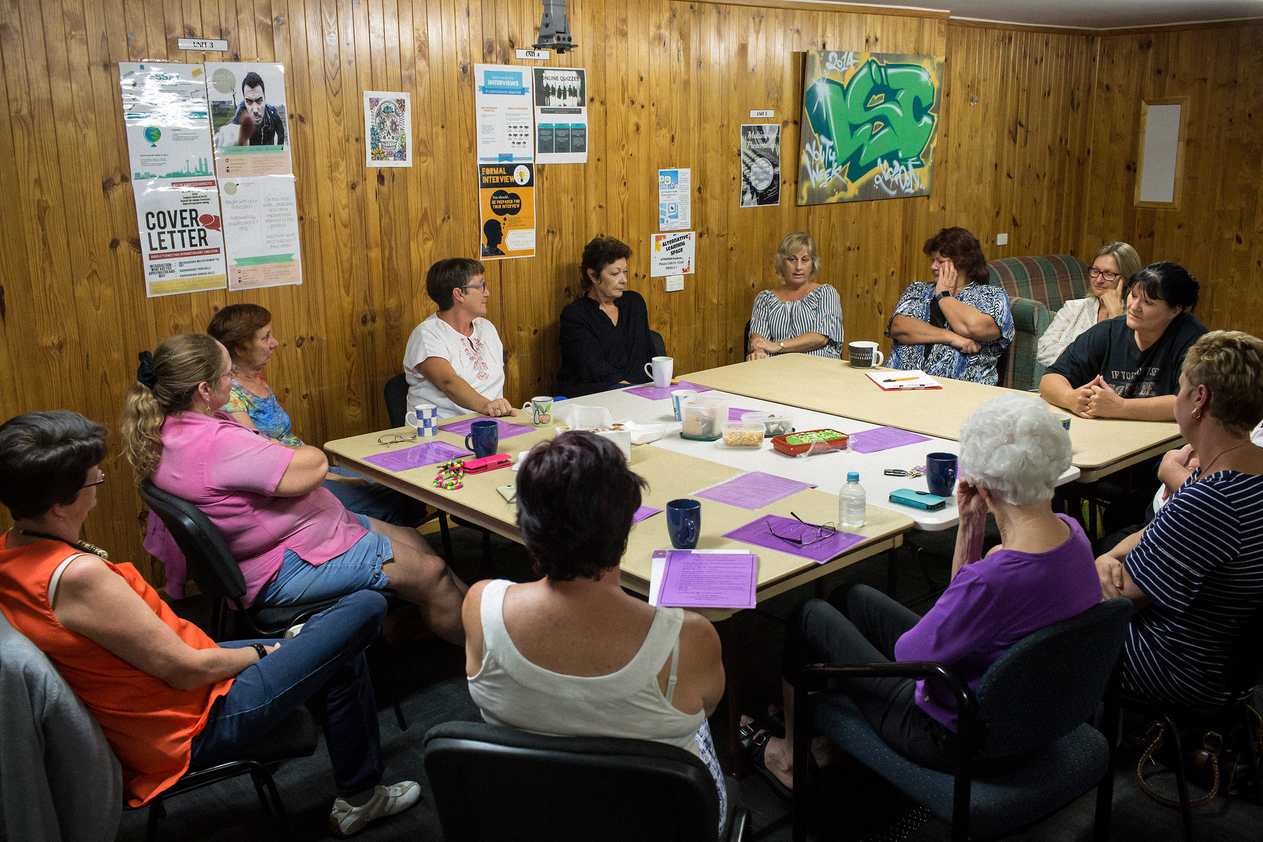 Members of a support group that brings together loved ones of ice addicts at a community center in Yeppoon, north of Rockhampton, in April 2017.