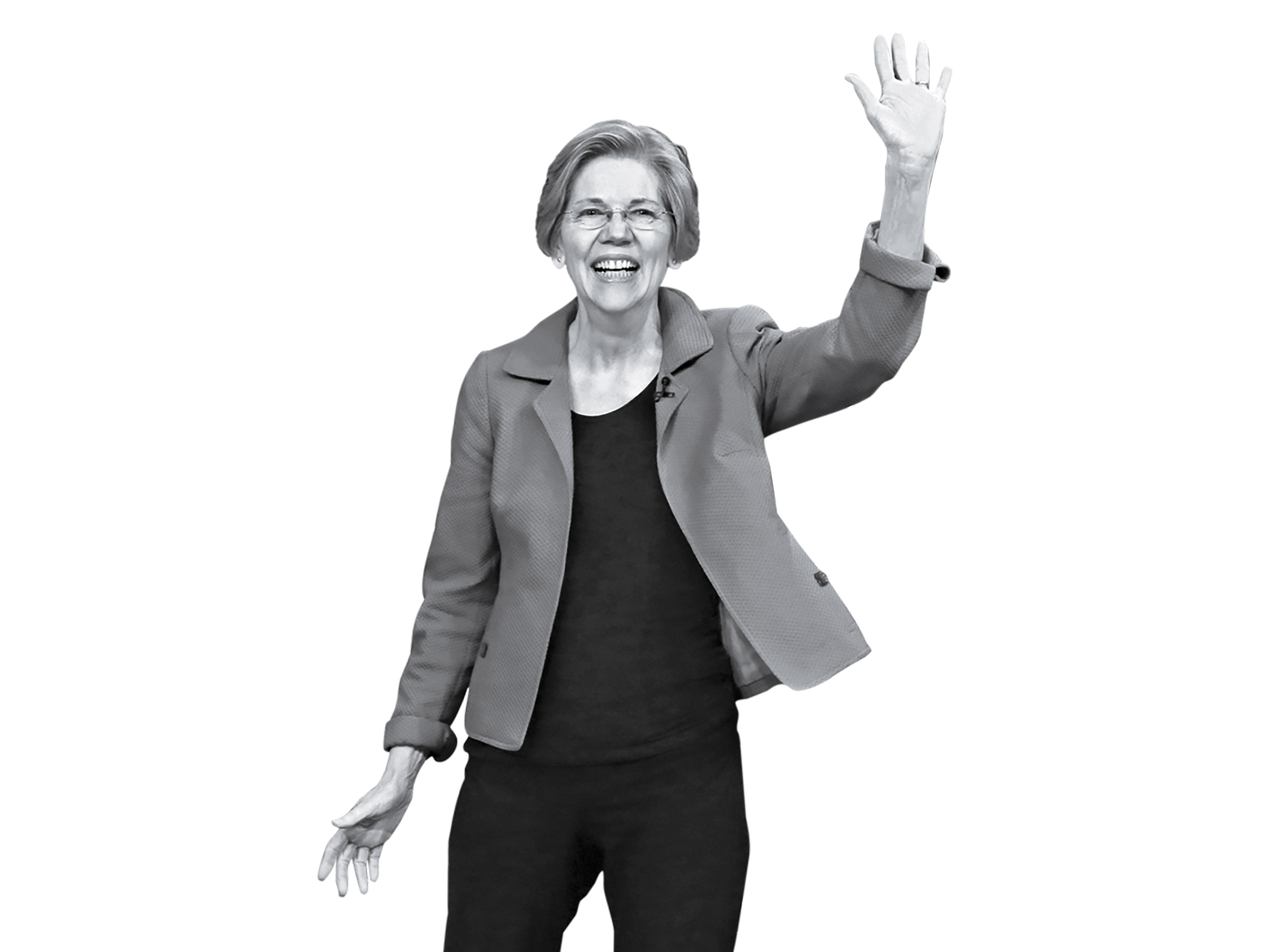 Senator Elizabeth Warren arrives at The Tonight Show Starring Jimmy Fallon on April 18, 2017.