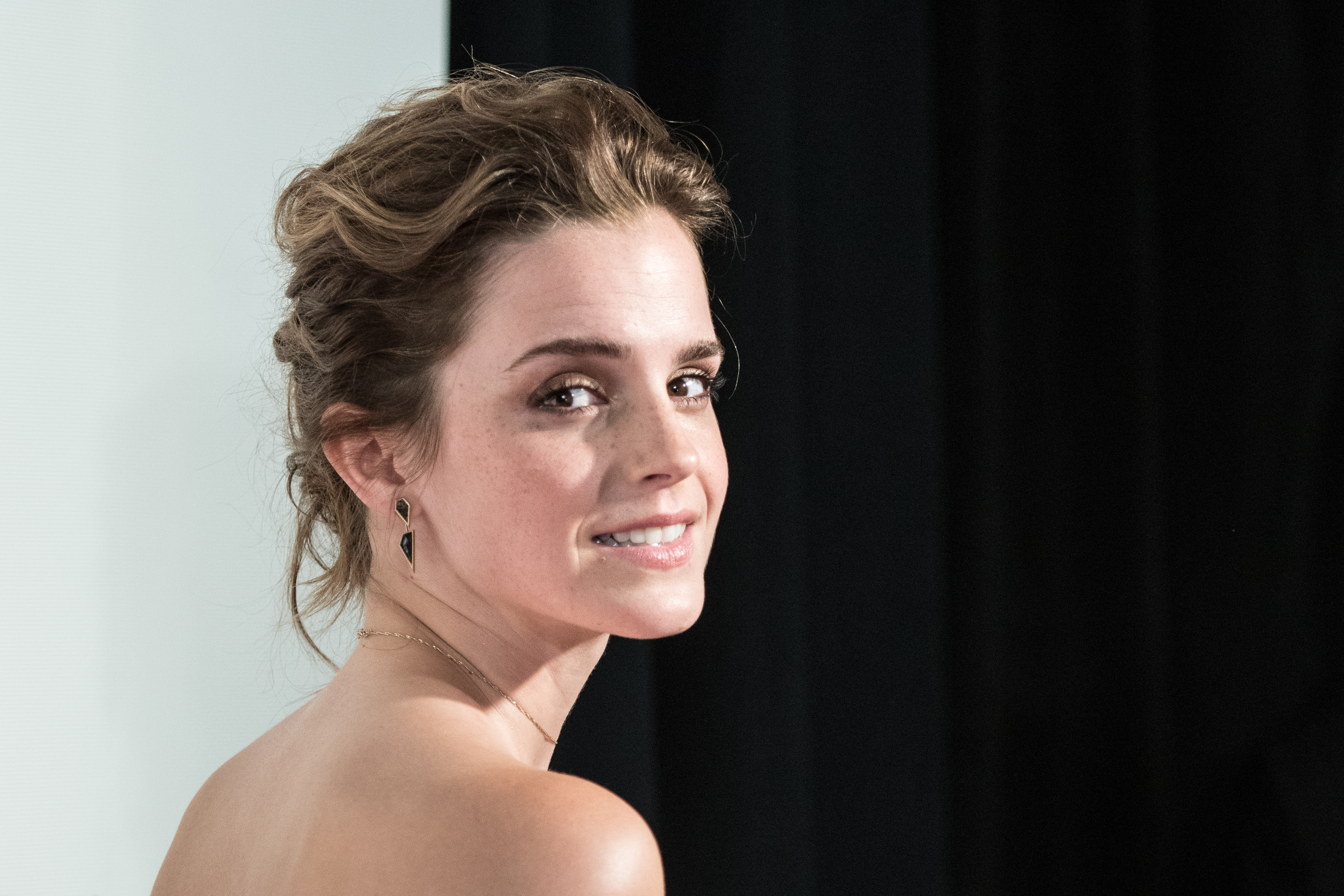 NEW YORK, NY - APRIL 26:  Emma Watson attends at BMCC Tribeca PAC on April 26, 2017 in New York City.  (Photo by Steven Ferdman/Patrick McMullan via Getty Images)