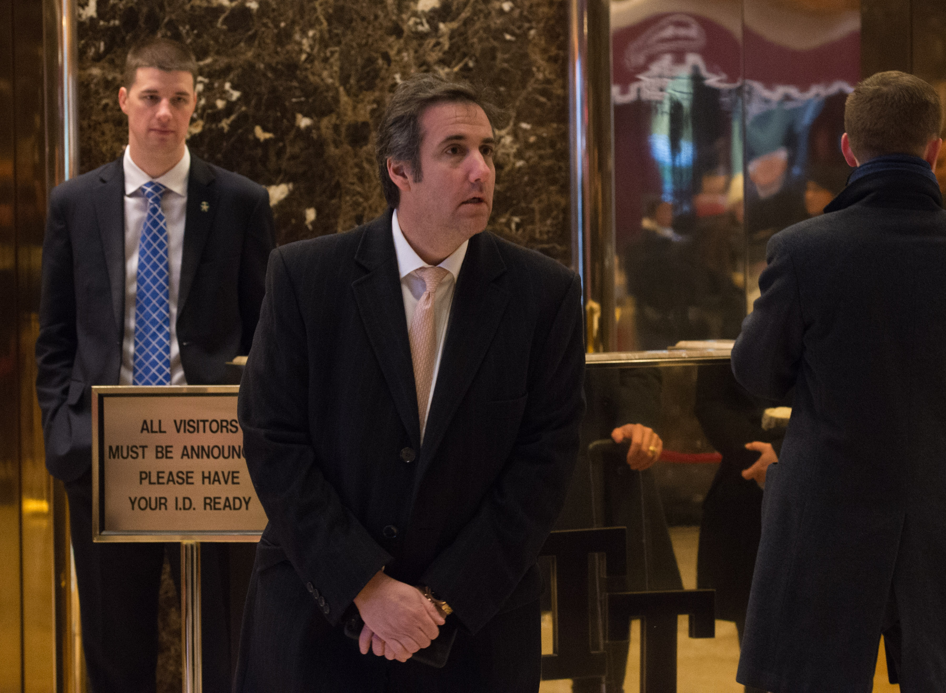 Attorney Michael Cohen arrives to Trump Tower for meetings with President-elect Donald Trump on December 16, 2016 in New York.