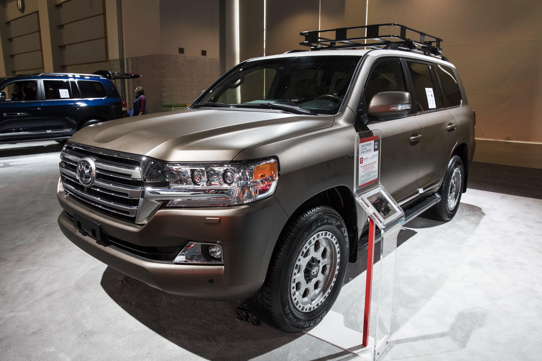 A 2017 Toyota Land Cruiser at the 2017 Washington Auto Show in Washington, USA on February 3, 2017.