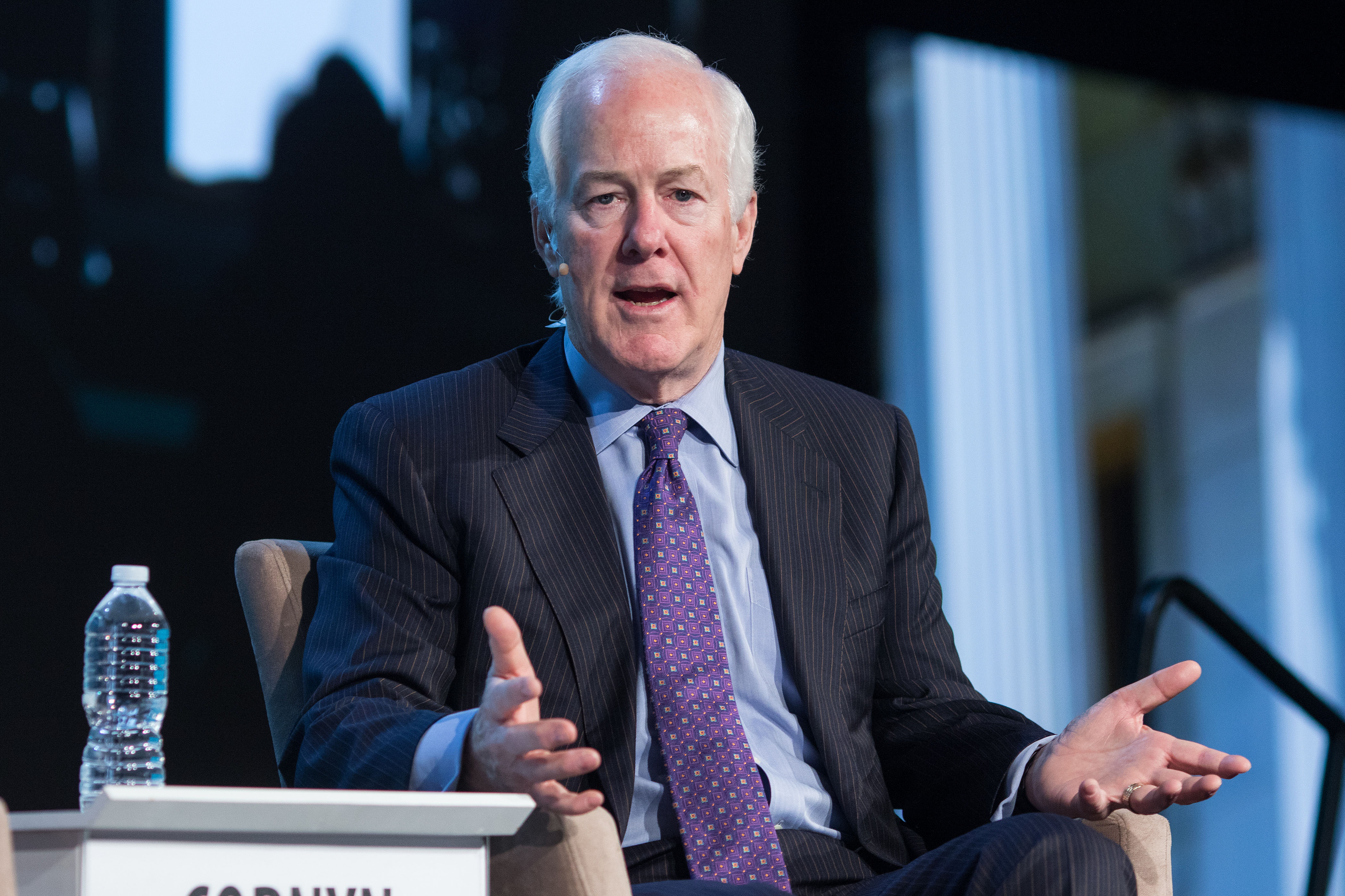 Sen. John Cornyn, a Republican from Texas, speaks during the 2017 CERAWeek by IHS Markit conference in Houston, Texas on March 10, 2017.