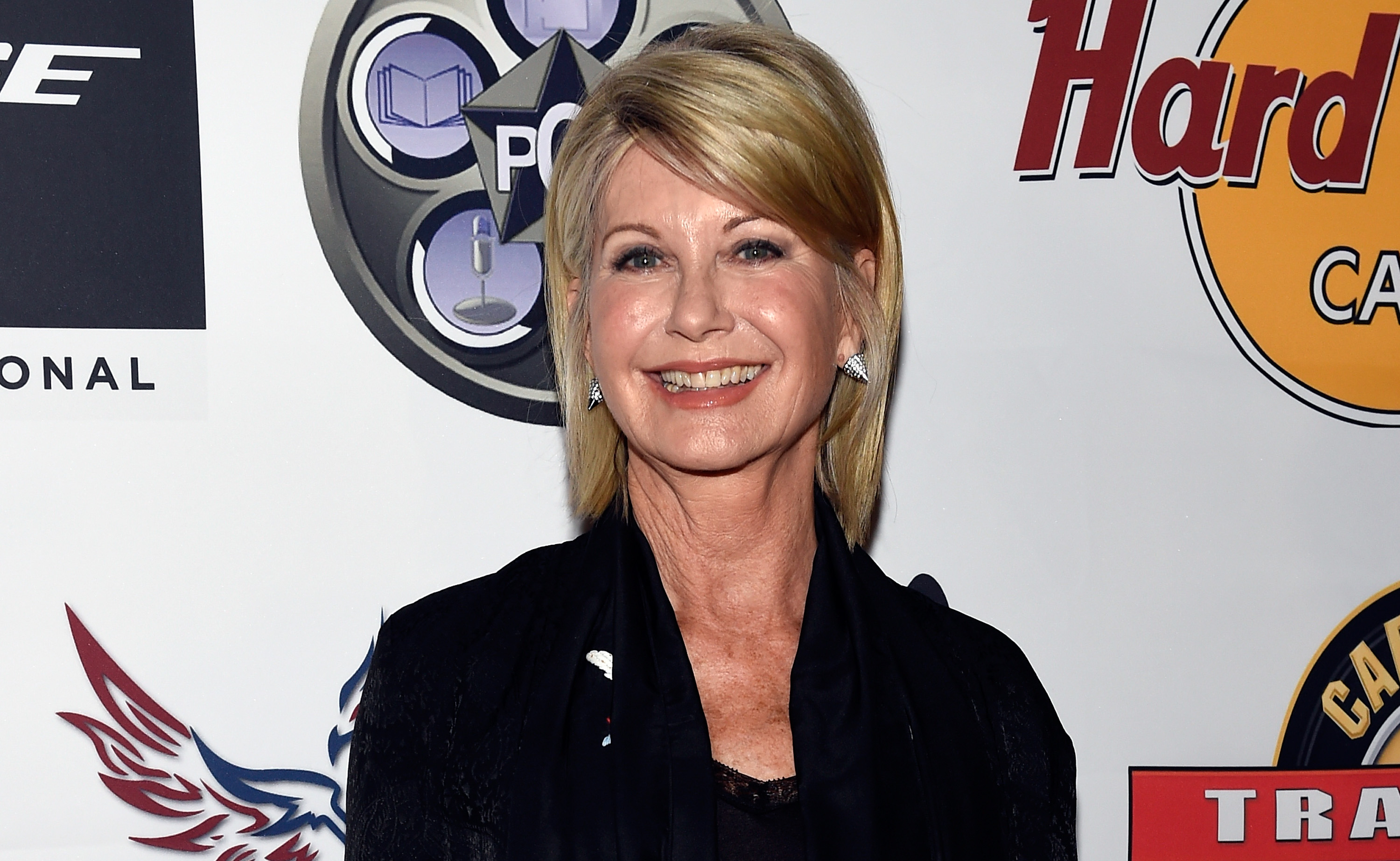 Olivia Newton-John attends the inaugural F.A.M.E Awards presented by the Producers Choice Honors at the Hard Rock Cafe Las Vegas Strip, March 23, 2017.