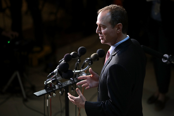 House Intelligence Committee ranking member Rep. Adam Schiff (D-CA) talks to reporters at the U.S. Capitol May 16, 2017 in Washington, DC.