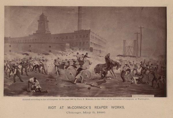 Riot At McCormick's Reaper Works