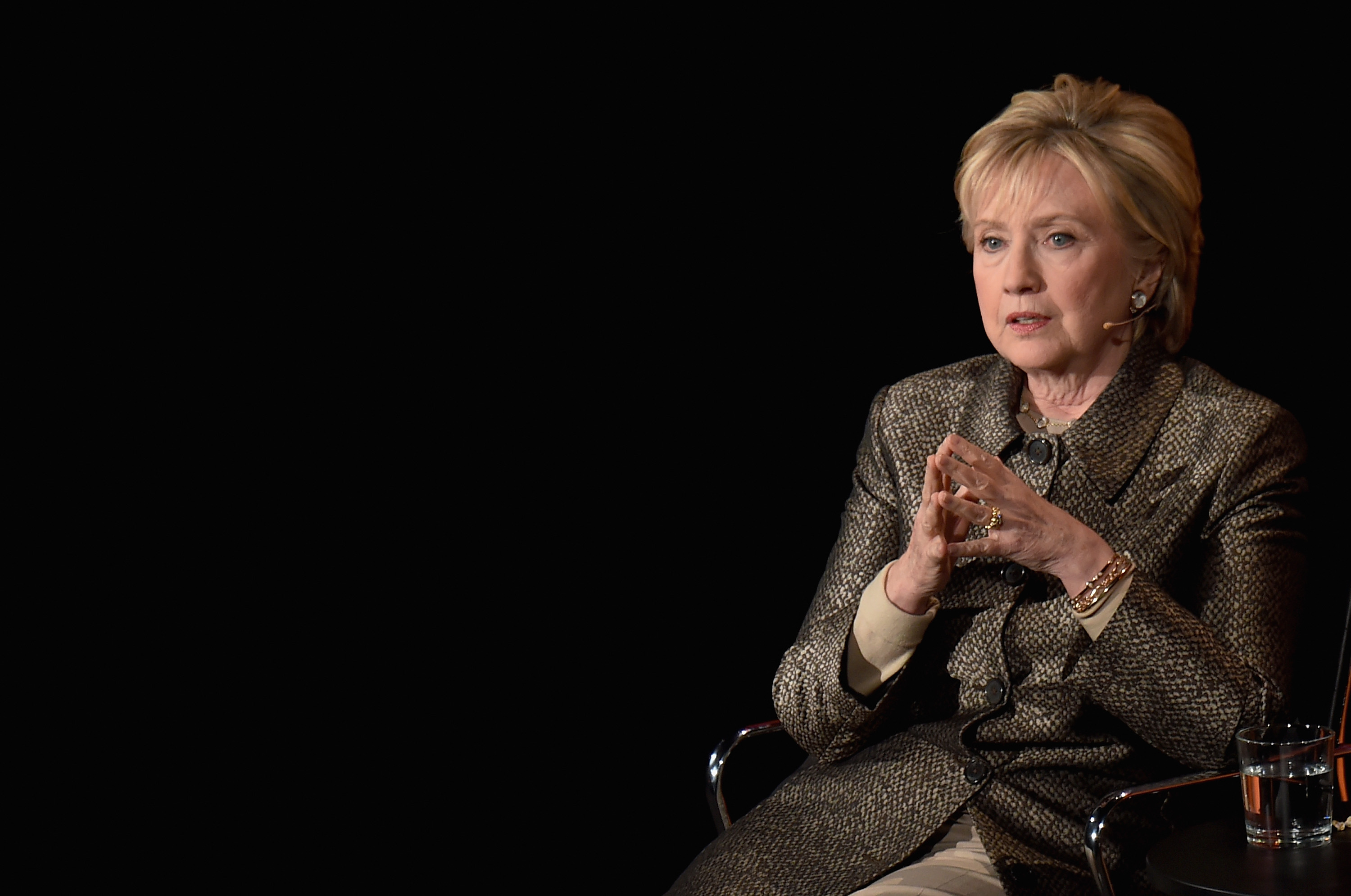 Hillary Clinton speaks during the Eighth Annual Women In The World Summit at Lincoln Center for the Performing Arts on April 6, 2017 in New York City.