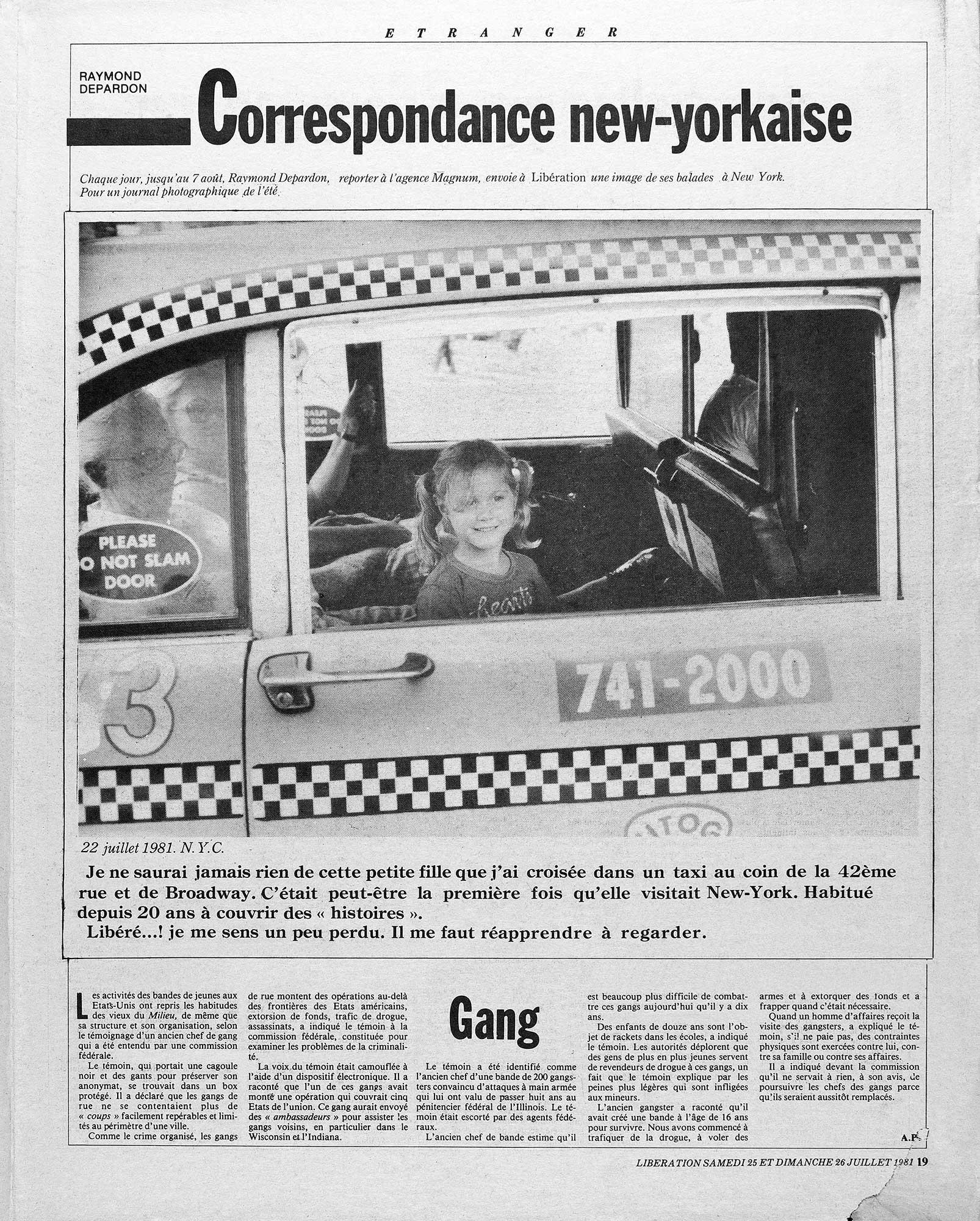 A photograph from Raymond Depardon's 1981 assignment