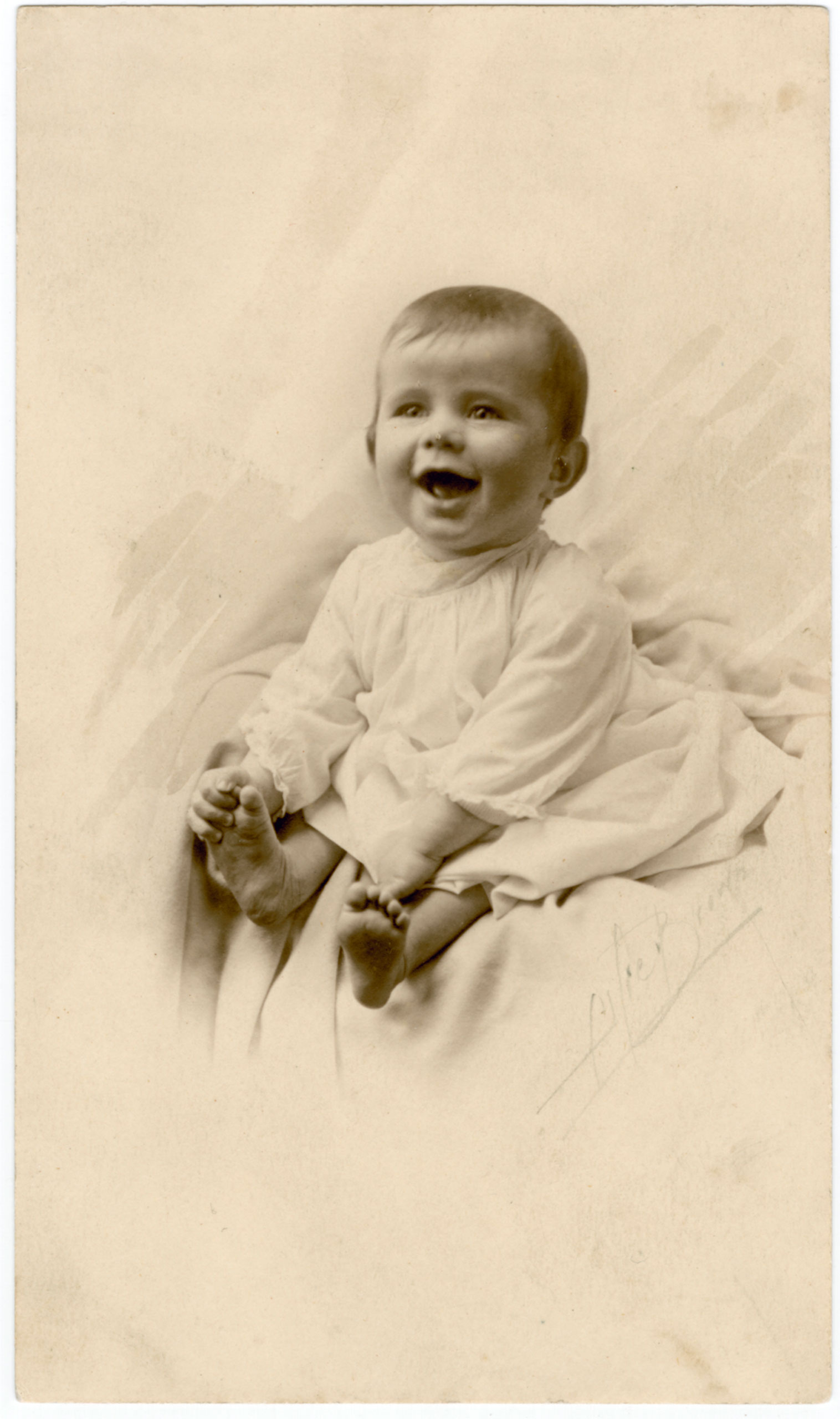 Portrait of John F. Kennedy's first formal photo session, ca. Nov. 1917. Photo by Alfred Brown. Kennedy Family Collection.