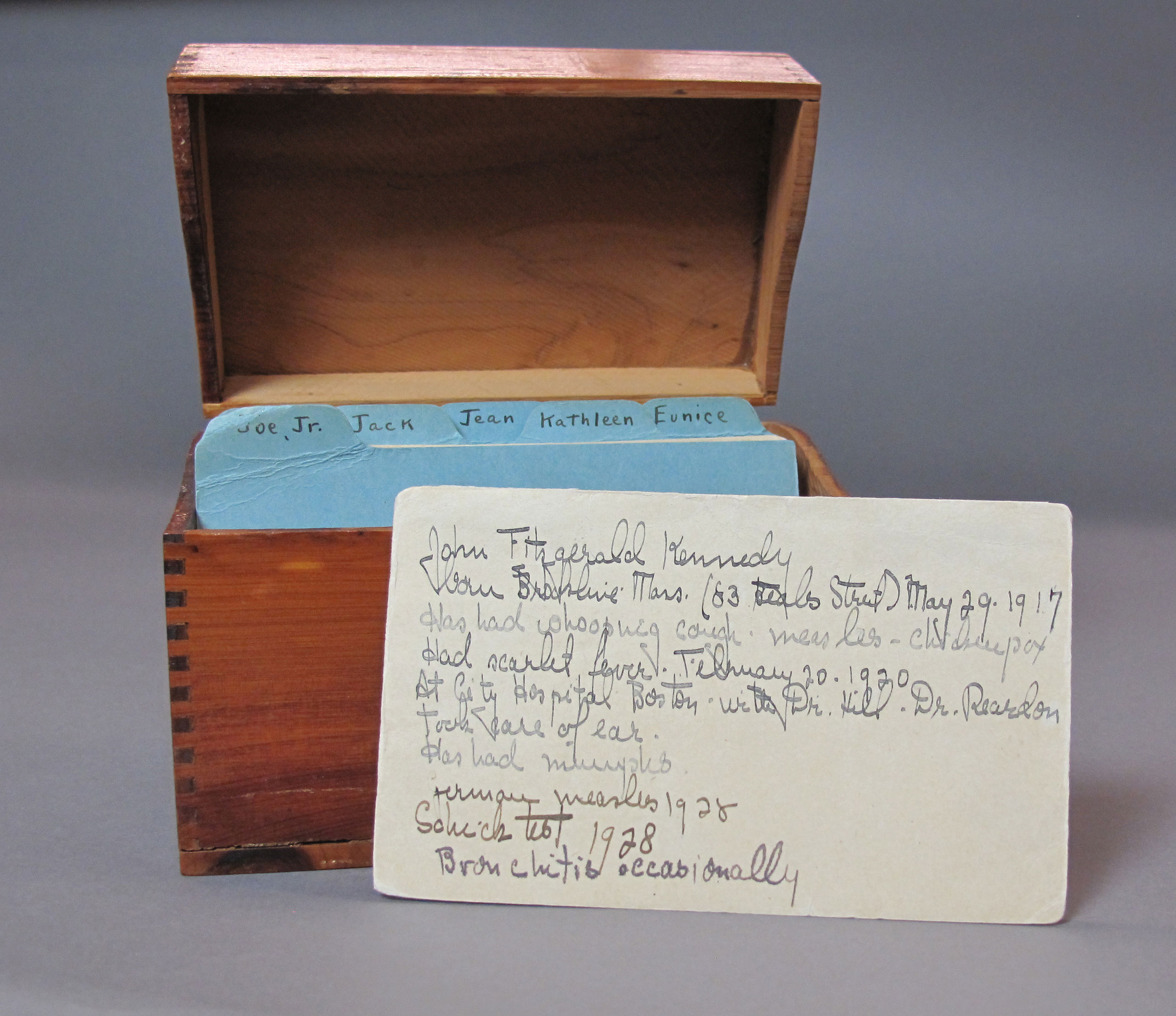 Health records of the Kennedy children, maintained by their mother.