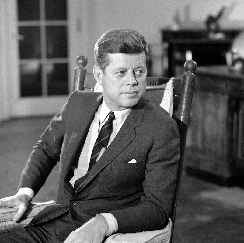 President John F. Kennedy on CBS on Dec. 16, 1962