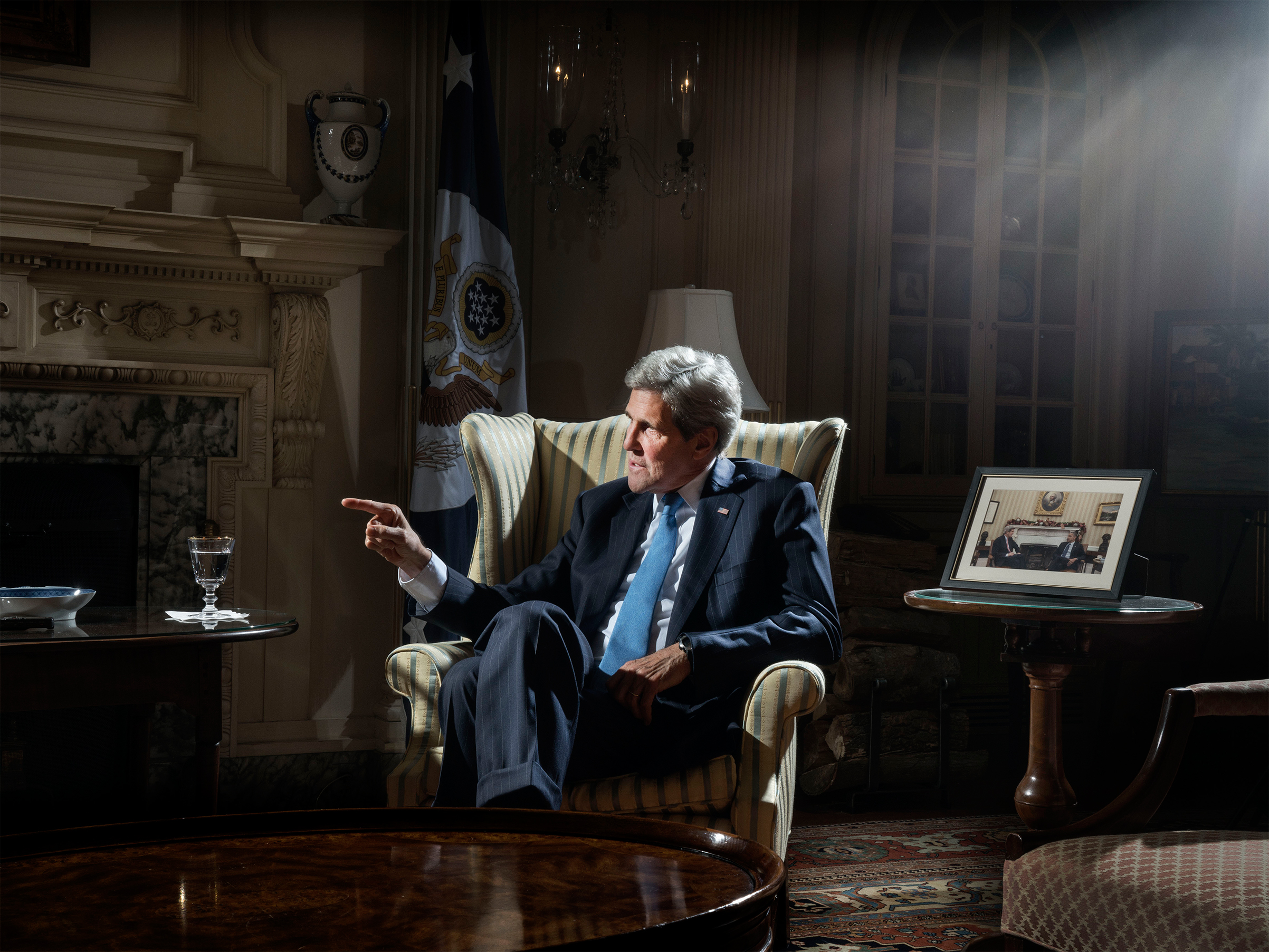 John Kerry photographed in Washington, D.C., on April 1, 2016.