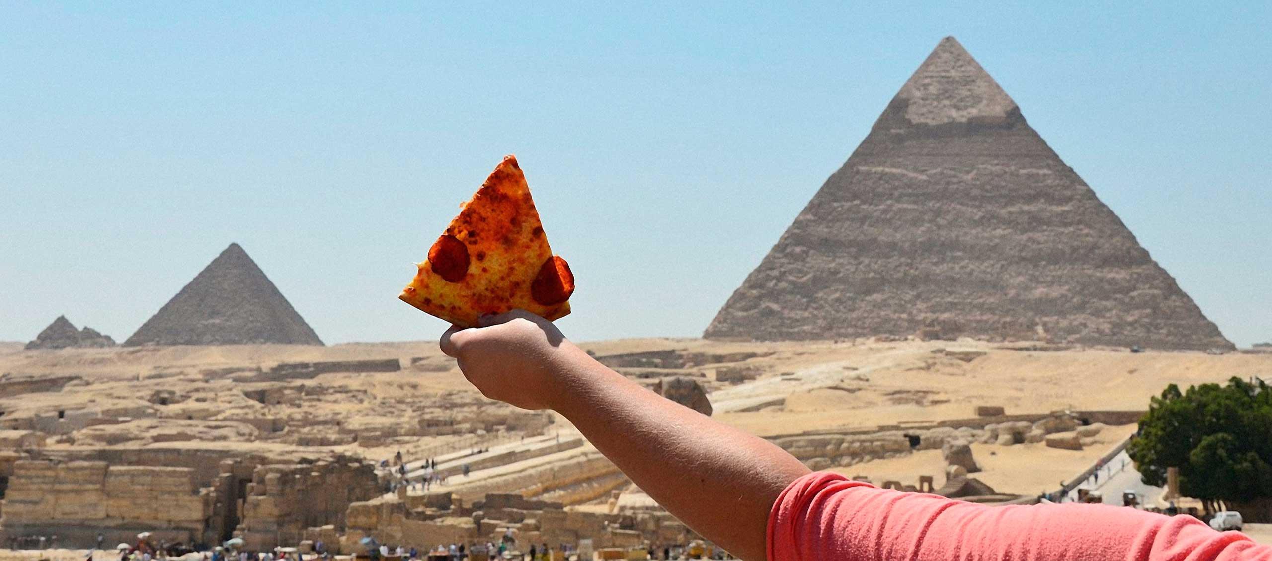 Pizza Pyramids, Cairo, Egypt, 2014.