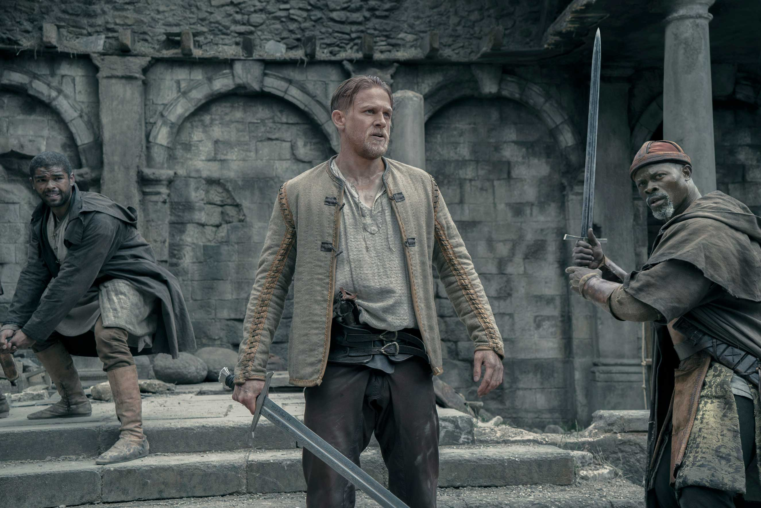 Hunnam as the young King Arthur, jazzed up for modern sensibilities