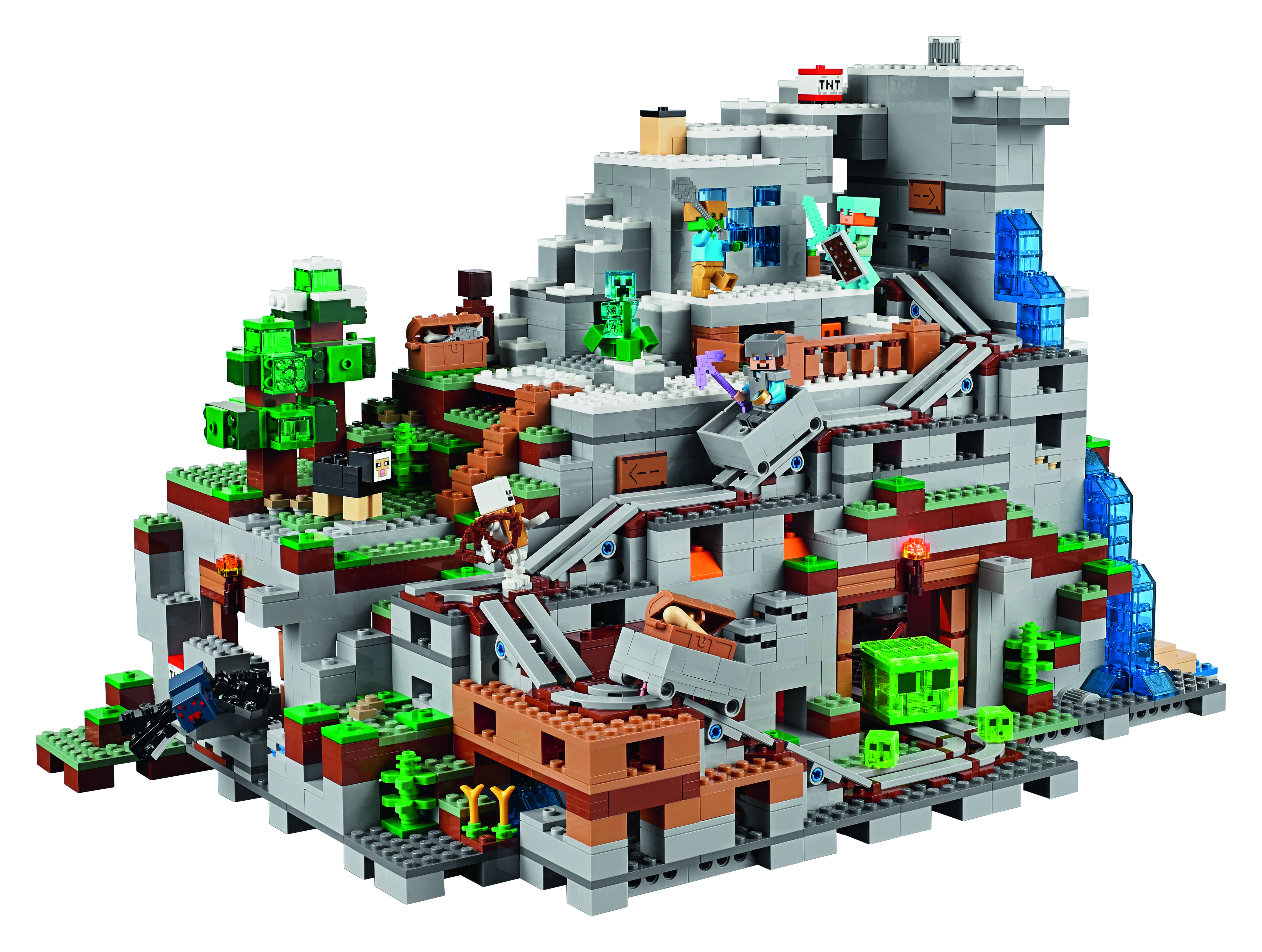 Lego Minecraft The Mountain Cave Is The Biggest Set Ever  Time